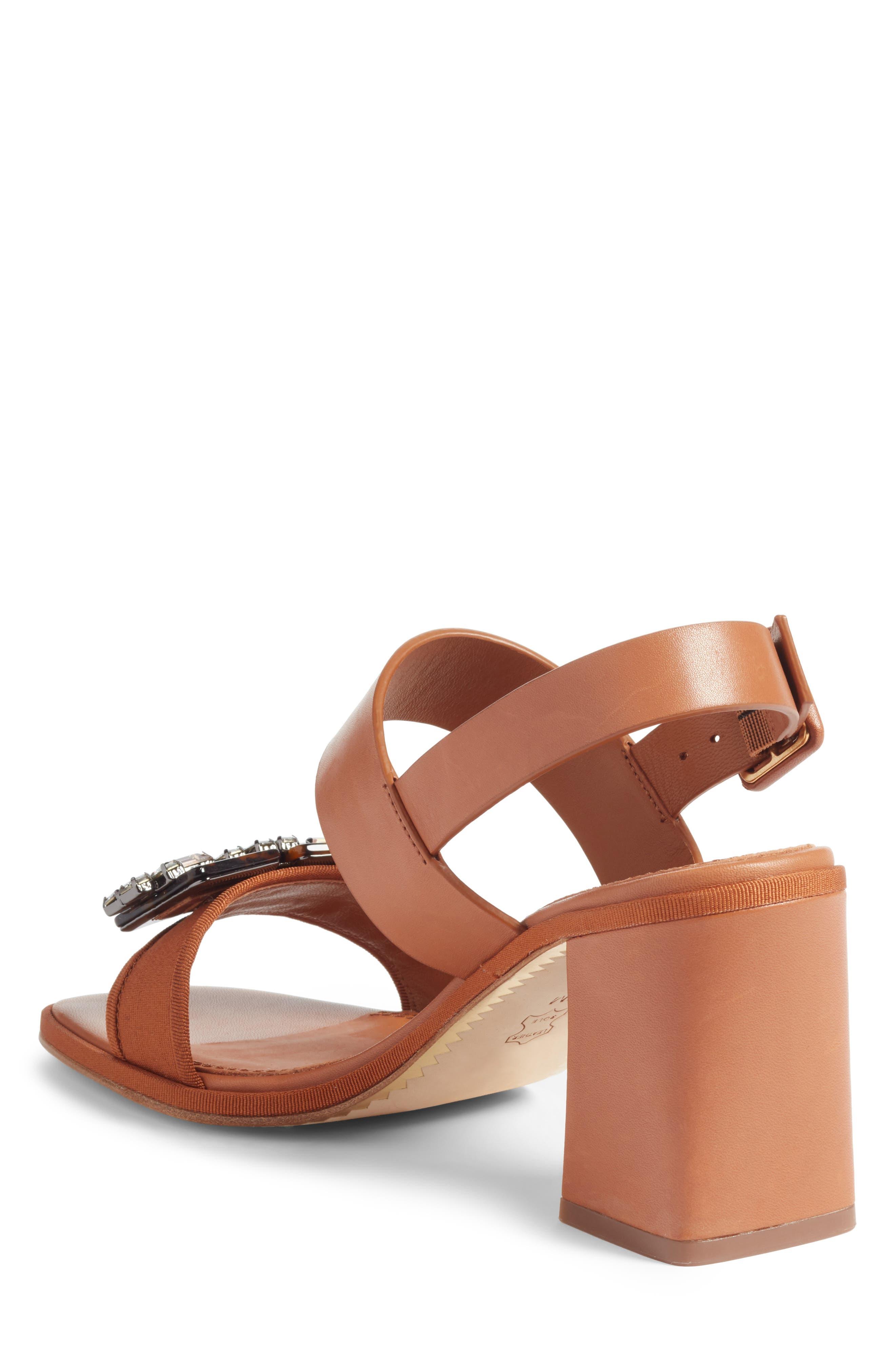 Delaney Embellished Double Strap Sandal,                             Alternate thumbnail 2, color,                             Tan/ Tan
