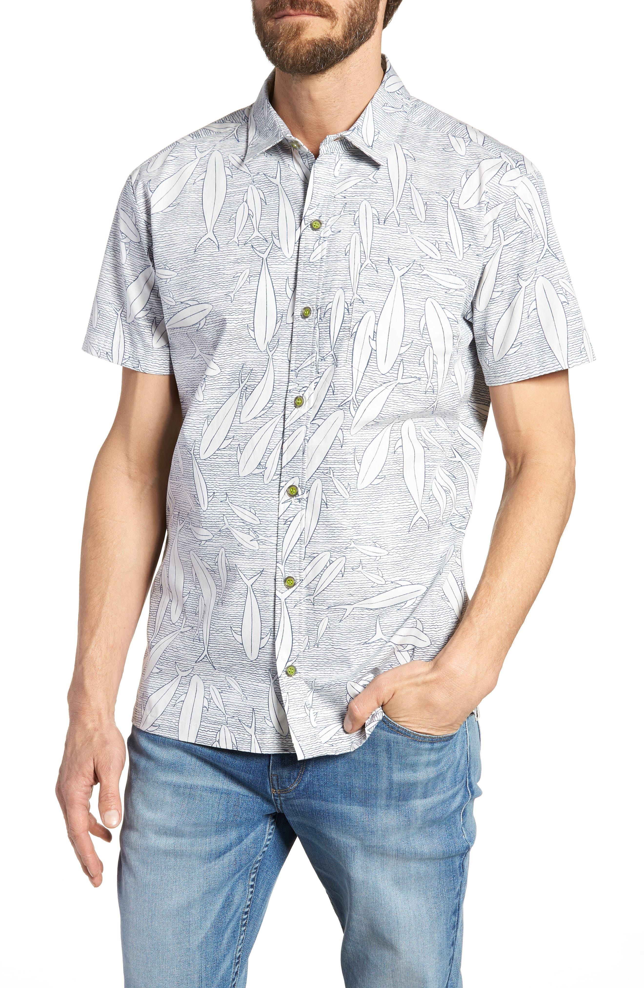 Tuna Tornado Trim Fit Sport Shirt,                         Main,                         color, Natural