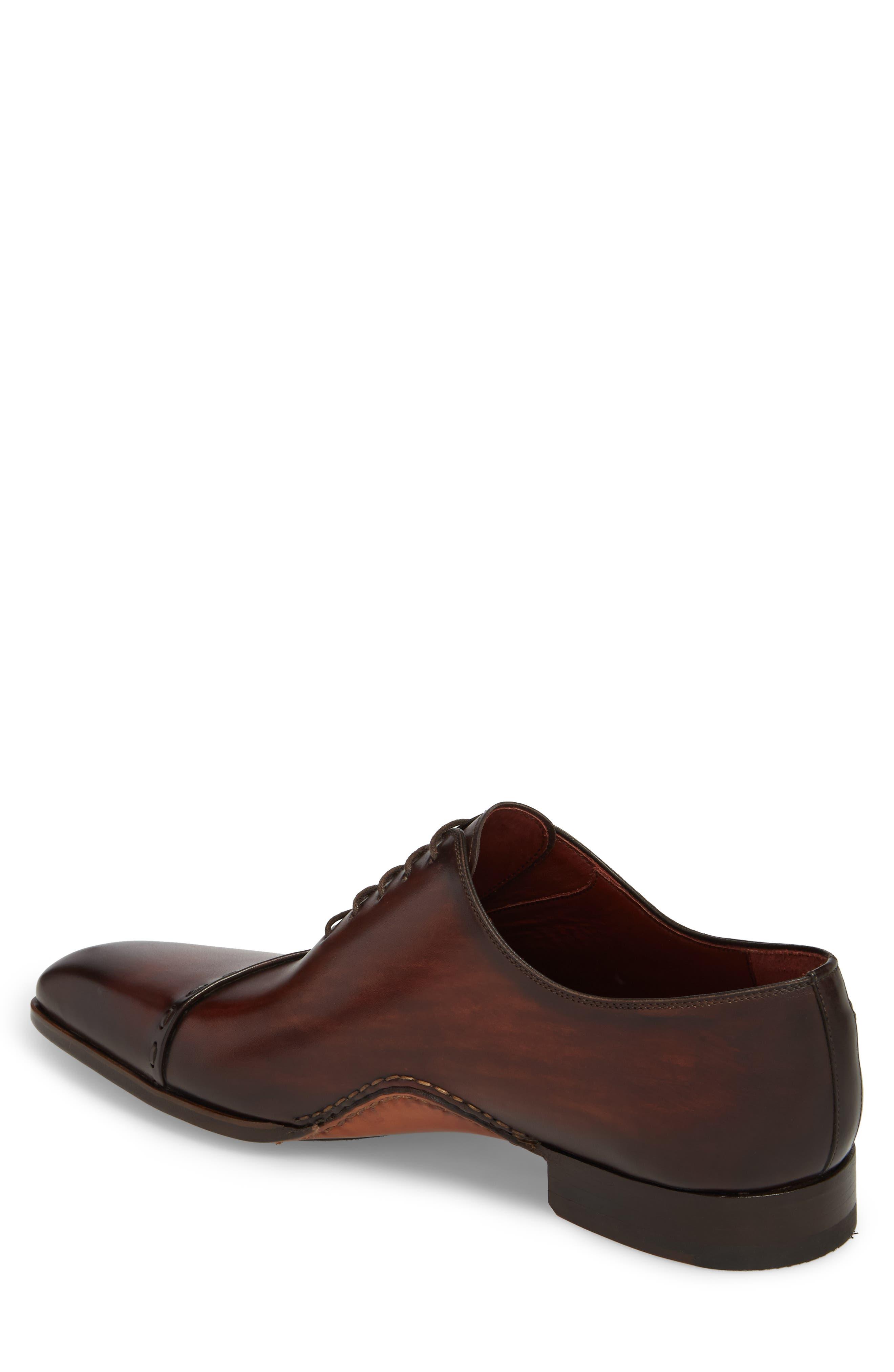 Kobe Asymmetrical Whole Cut Shoe,                             Alternate thumbnail 2, color,                             Mid-Brown Leather