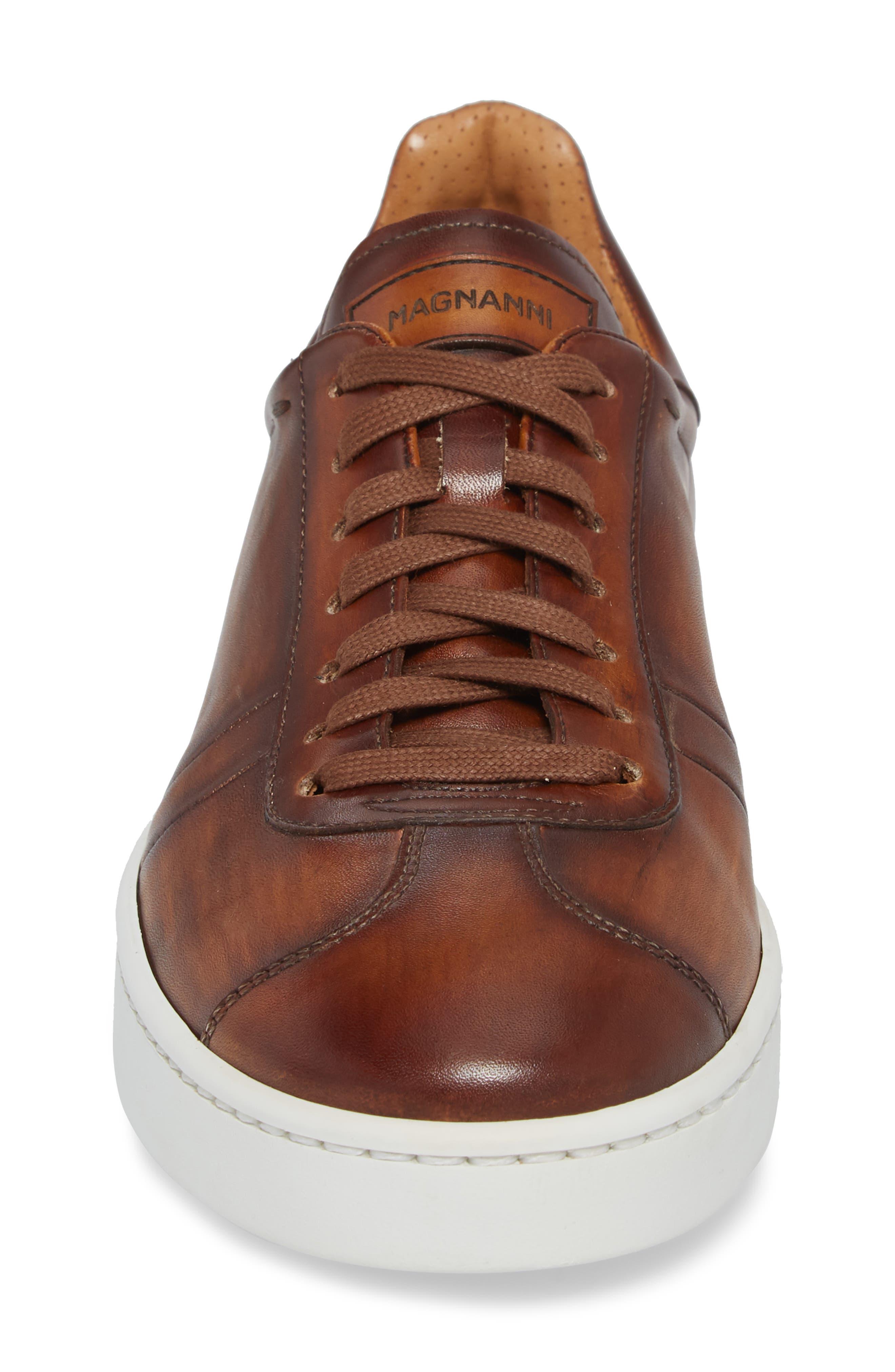 Gunner Low Top Sneaker,                             Alternate thumbnail 4, color,                             Cuero Leather