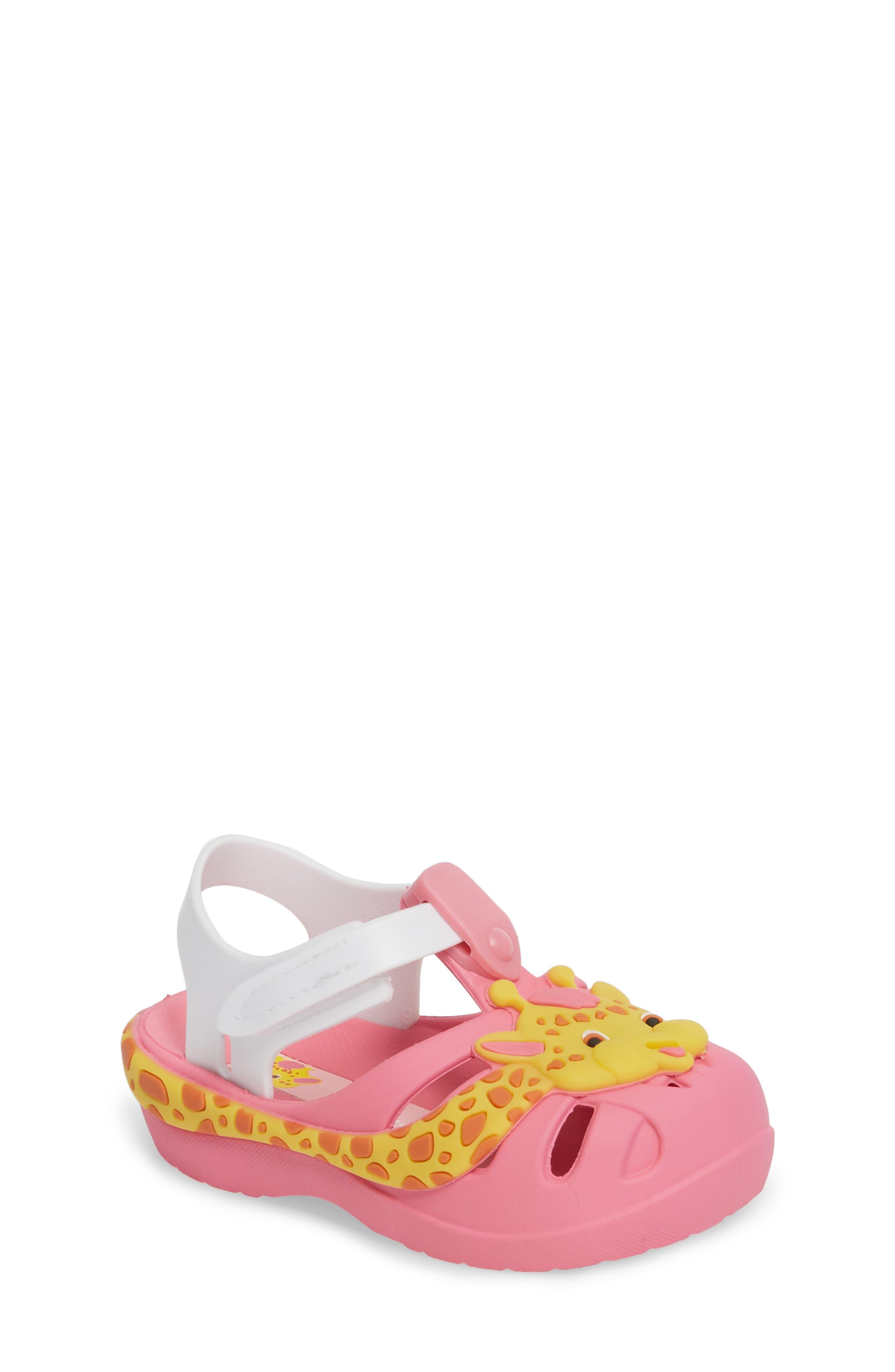 Summer Baby Waterproof Sandal,                             Main thumbnail 1, color,                             Pink/ White