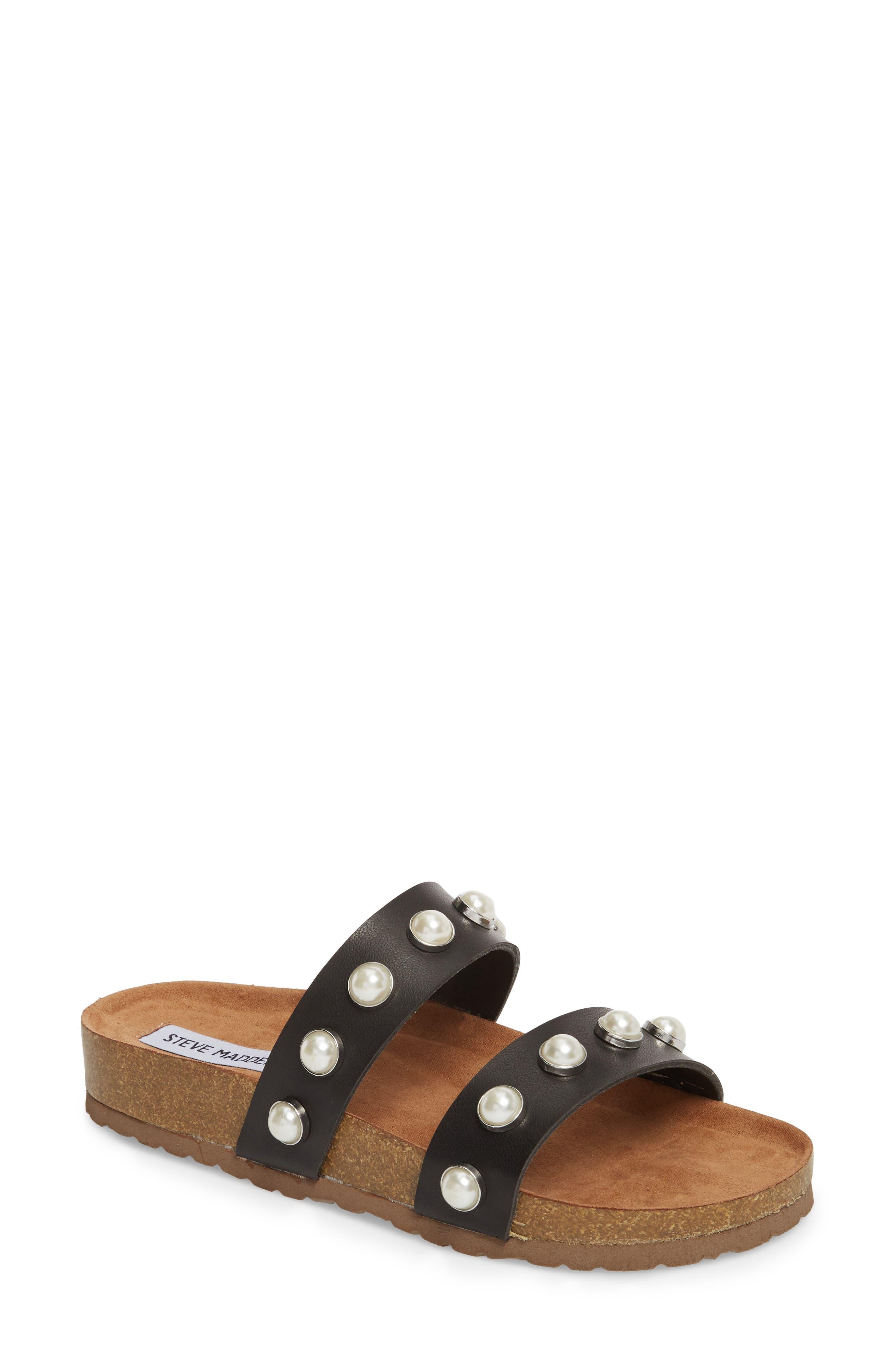 Asset Embellished Slide Sandal,                             Main thumbnail 1, color,                             Black