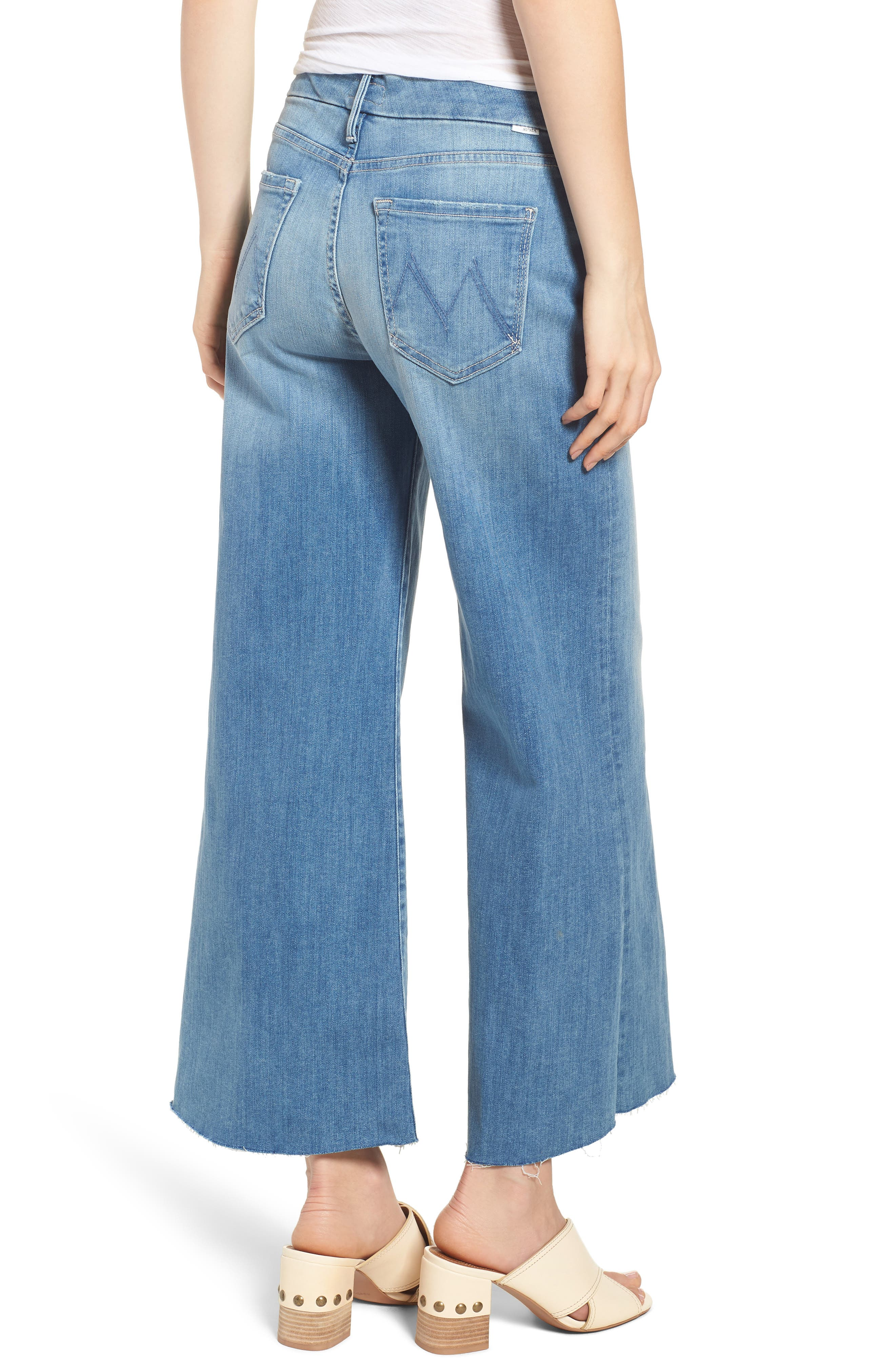 The Roller Crop Snippet Wide Leg Jeans,                             Alternate thumbnail 2, color,                             Well Played