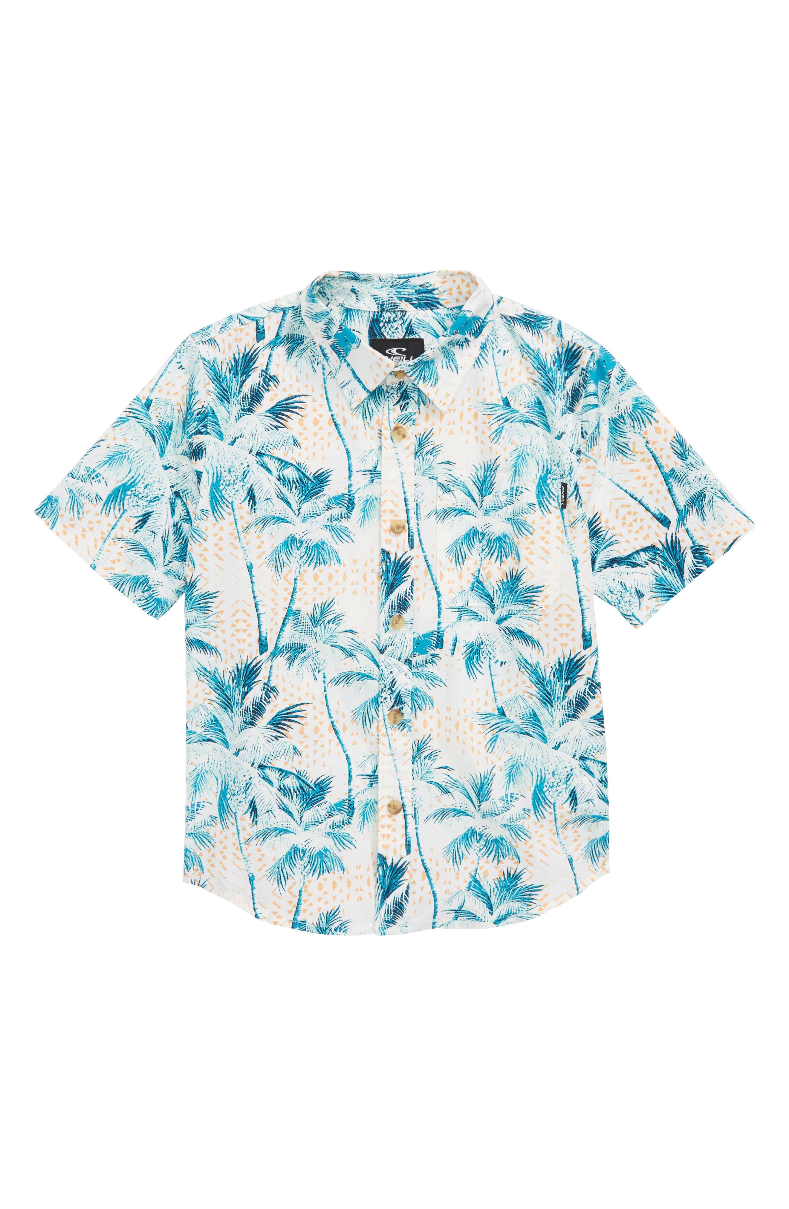 O'Neill Geronimo Palm Tree Woven Shirt (Toddler Boys)
