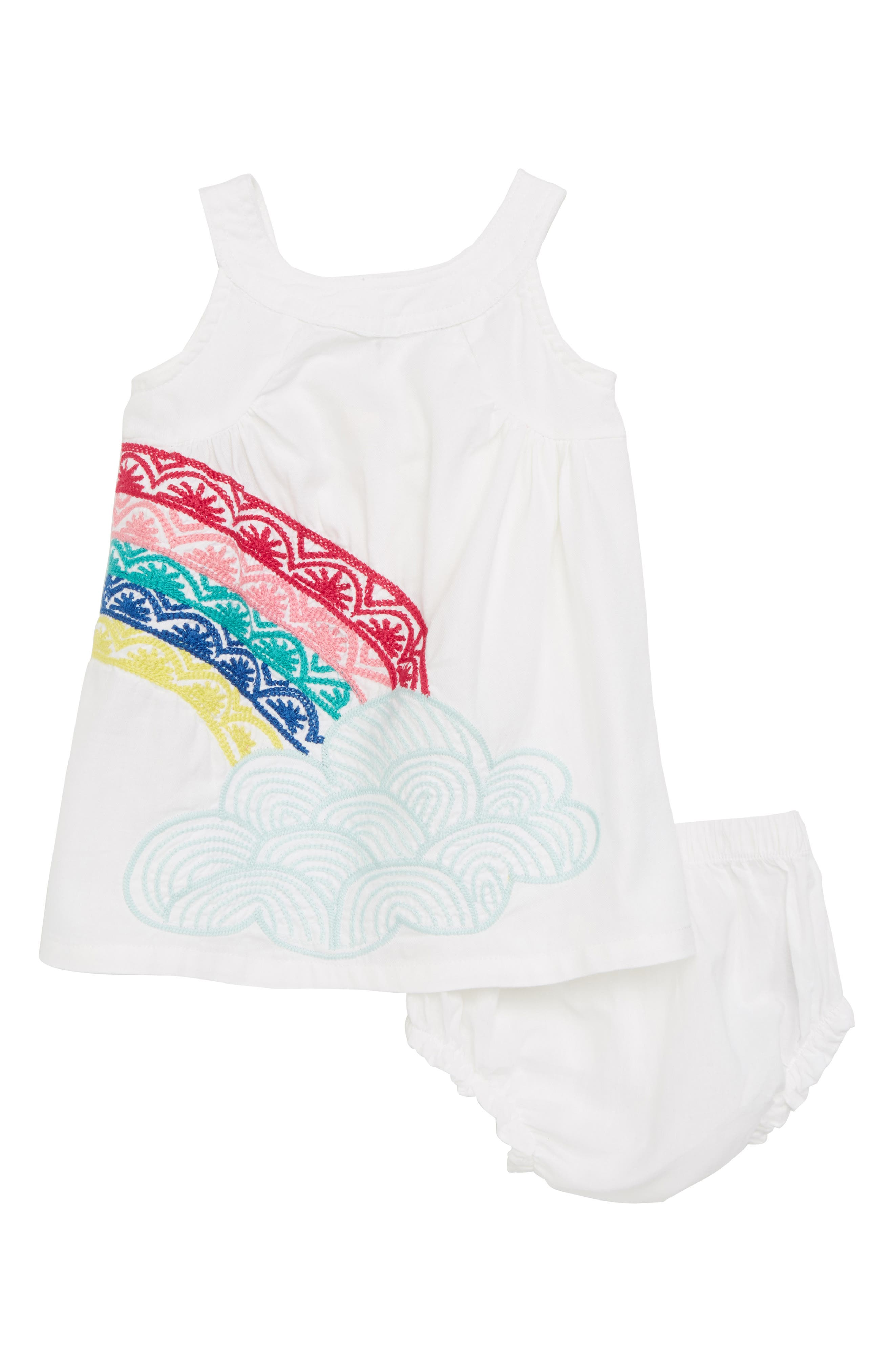 The Rainbow Embroidered Dress,                             Main thumbnail 1, color,                             Over The Rainbow