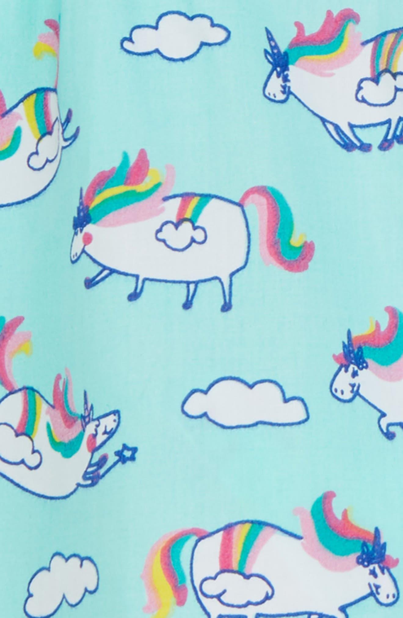 Unicorn Print Dress,                             Alternate thumbnail 2, color,                             Roly Poly Unicorns