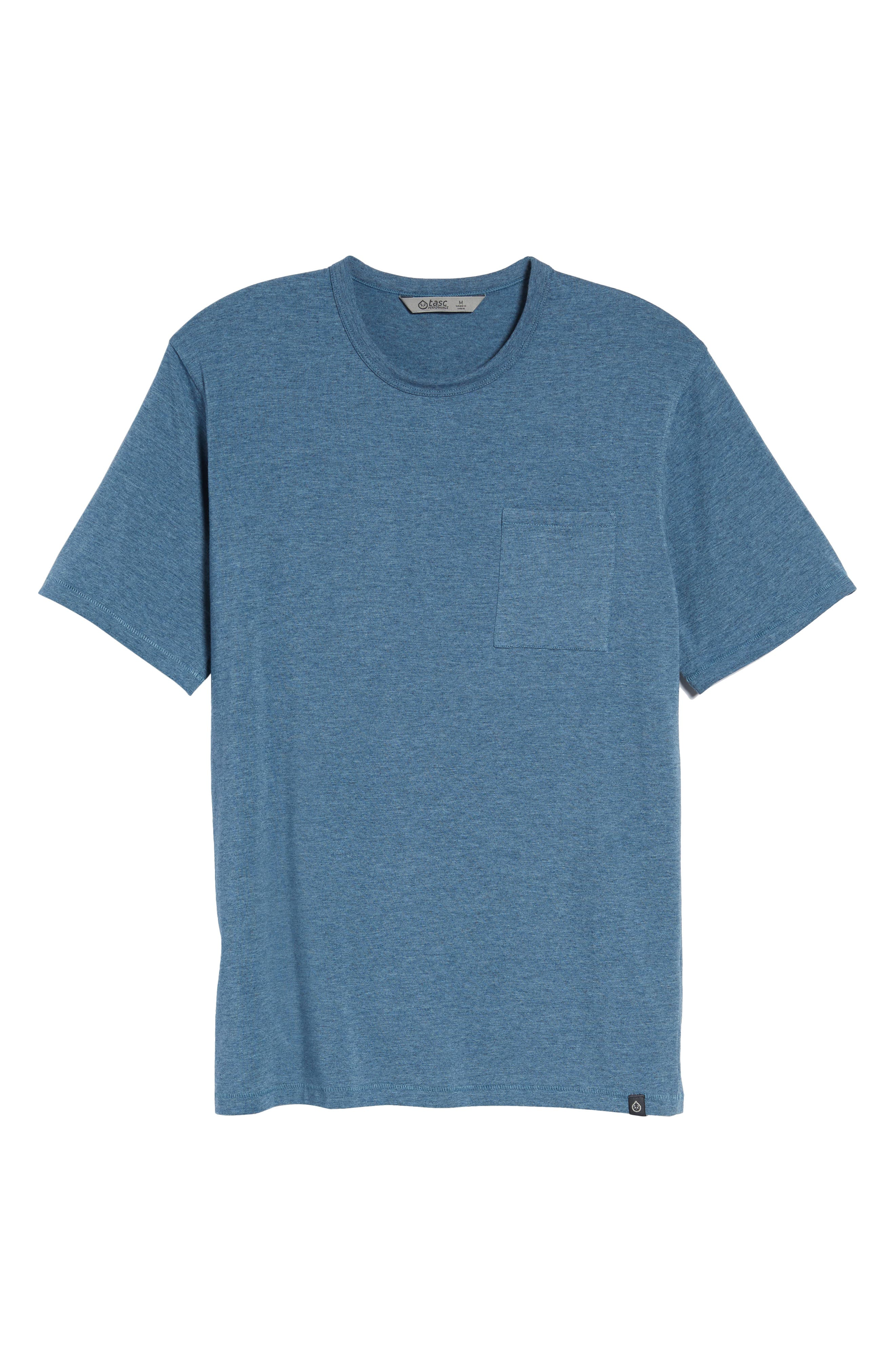 Nantucket Fitted T-Shirt,                             Alternate thumbnail 6, color,                             Indigo Heather
