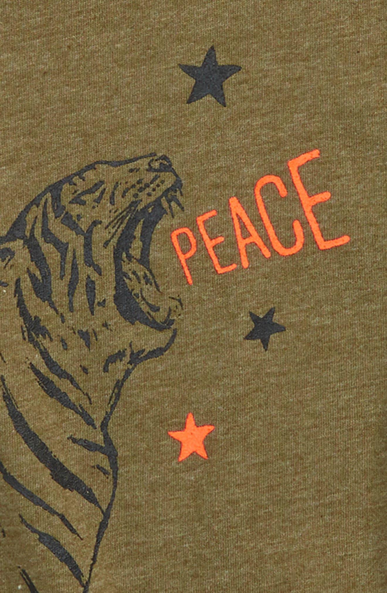 Tiger Star T-Shirt,                             Alternate thumbnail 2, color,                             Military