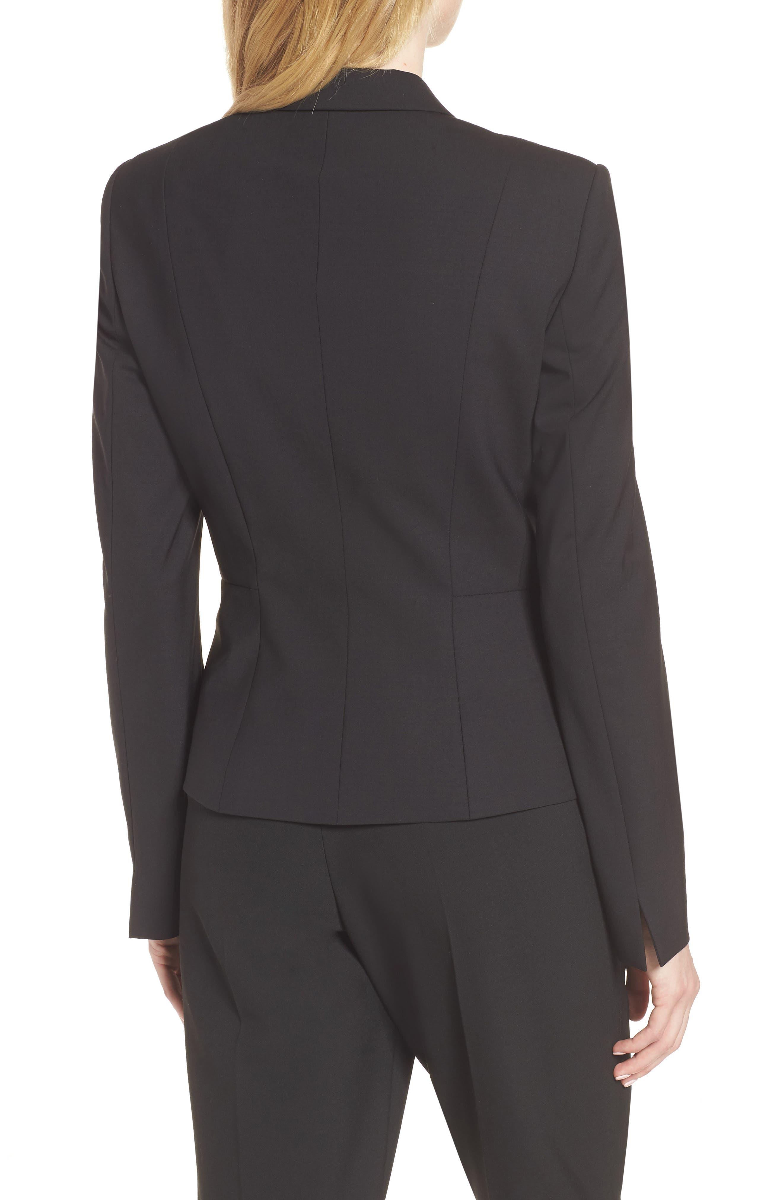 Jaru Stretch Wool Suit Jacket,                             Alternate thumbnail 2, color,                             Black