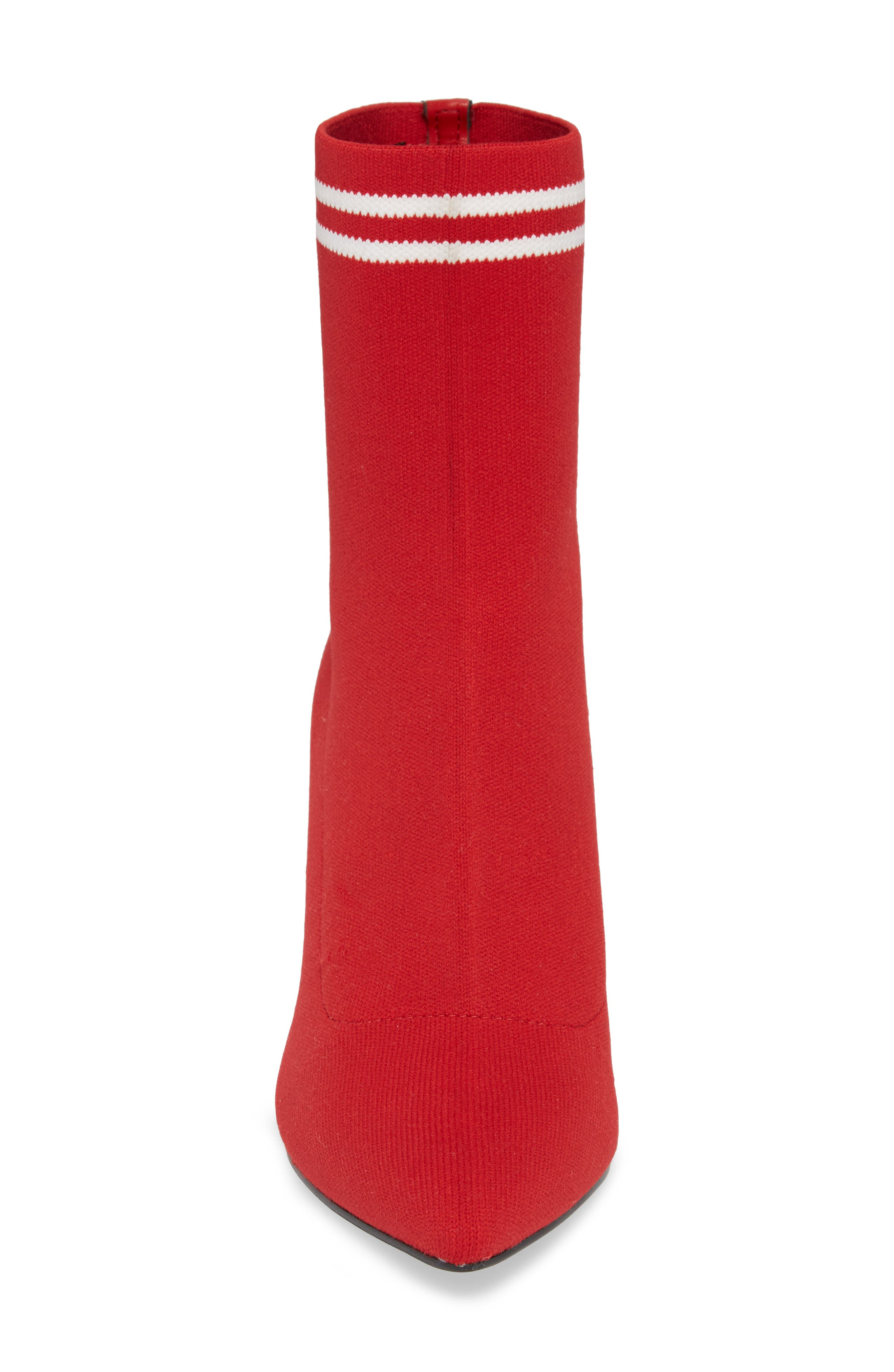 Finn Sock Bootie,                             Alternate thumbnail 4, color,                             Red Stretch