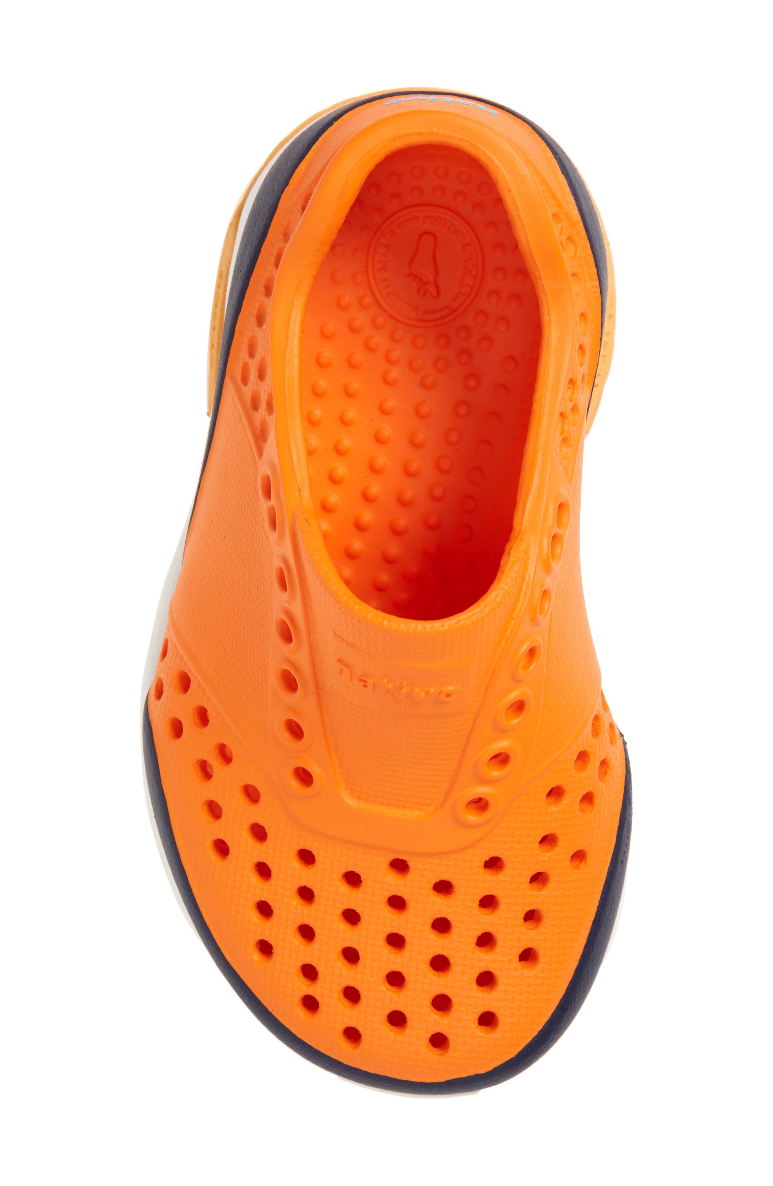 Lennox Block Slip-On Sneaker,                             Alternate thumbnail 5, color,                             Sunset Orange/ White/ Blue