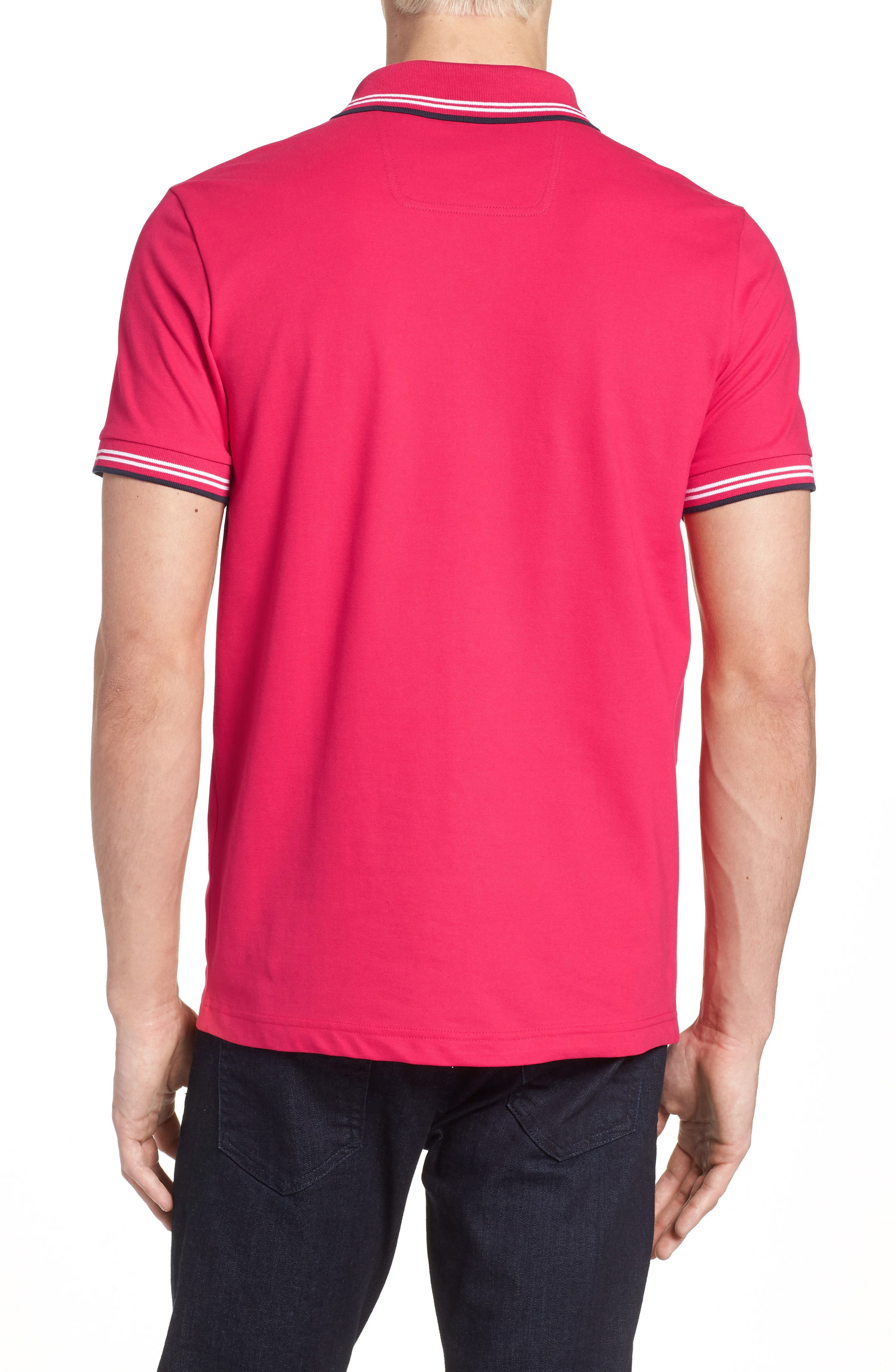 Paul Slim Fit Polo,                             Alternate thumbnail 2, color,                             Red