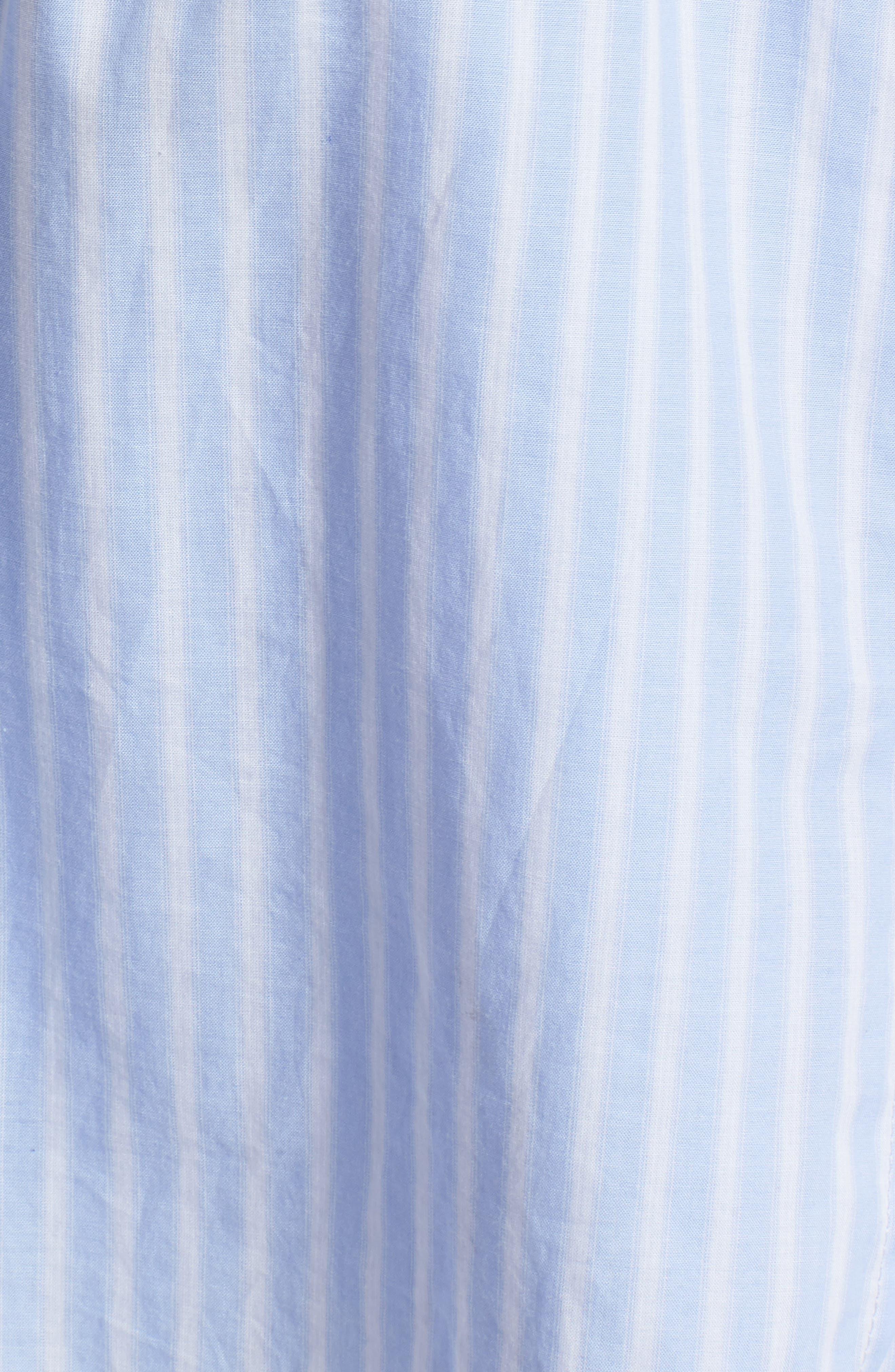 Faux Wrap Top,                             Alternate thumbnail 6, color,                             Blue Martina Stripe