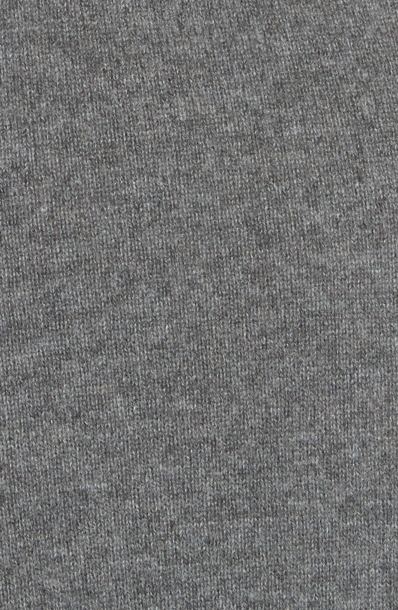Diane Von Furstenberg Linda Cashmere Wrap Dress,                             Alternate thumbnail 5, color,                             Charcoal Melange