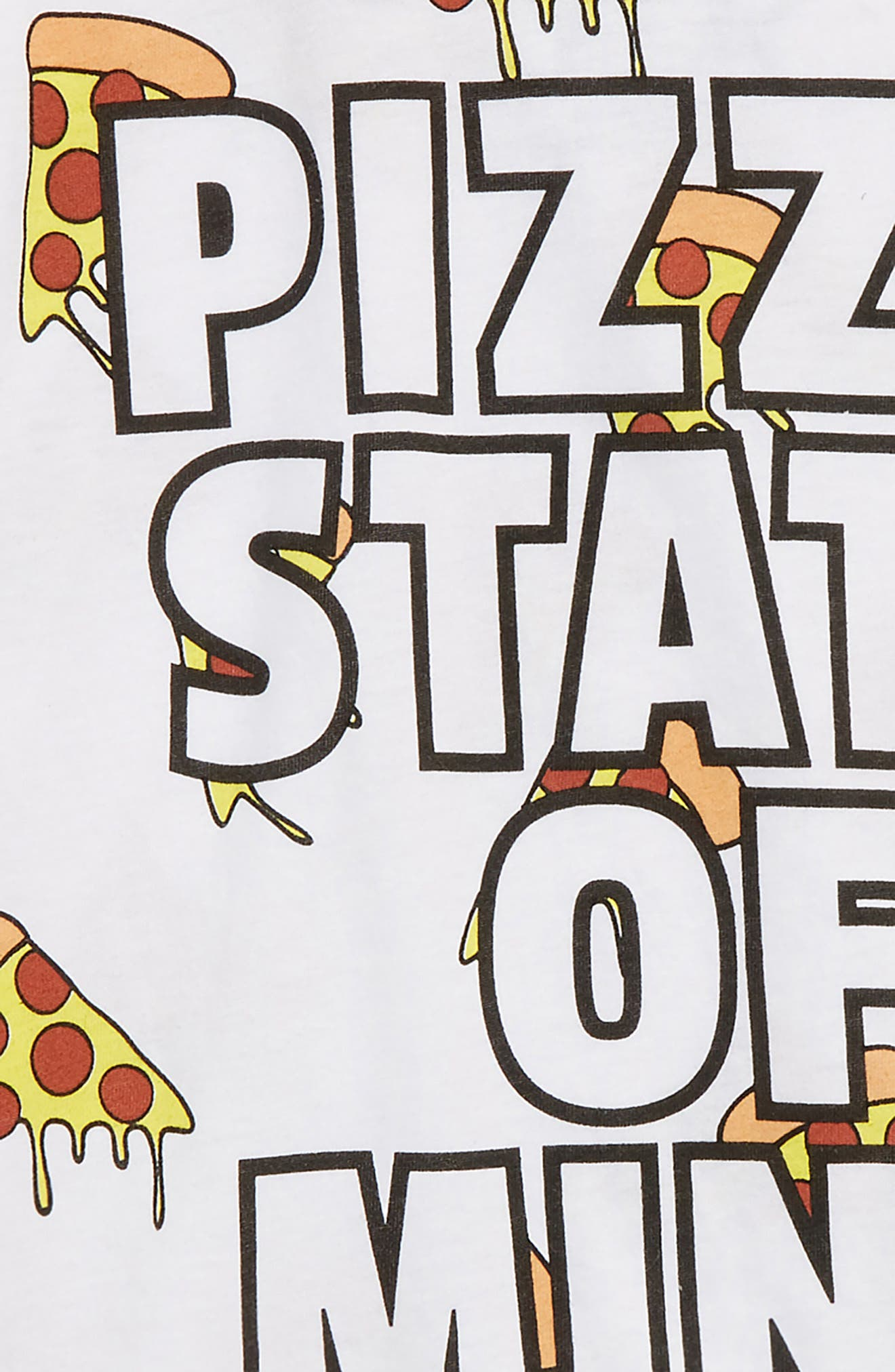 Pizza State of Mind T-Shirt,                             Alternate thumbnail 2, color,                             White
