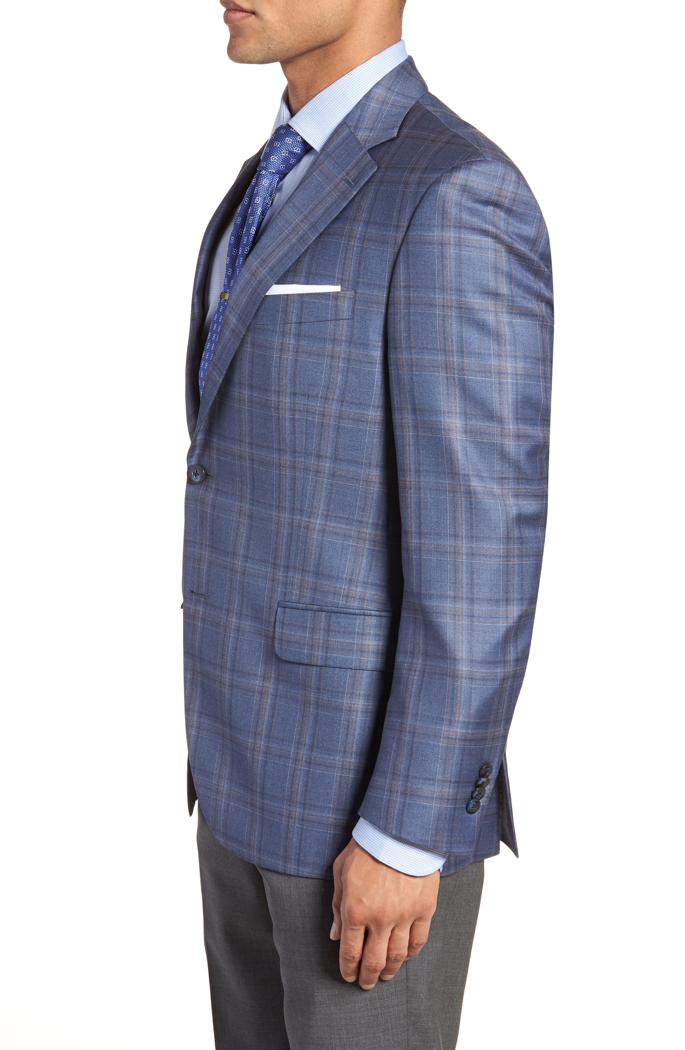 Alternate Image 3  - Peter Millar Classic Fit Windowpane Wool Sport Coat