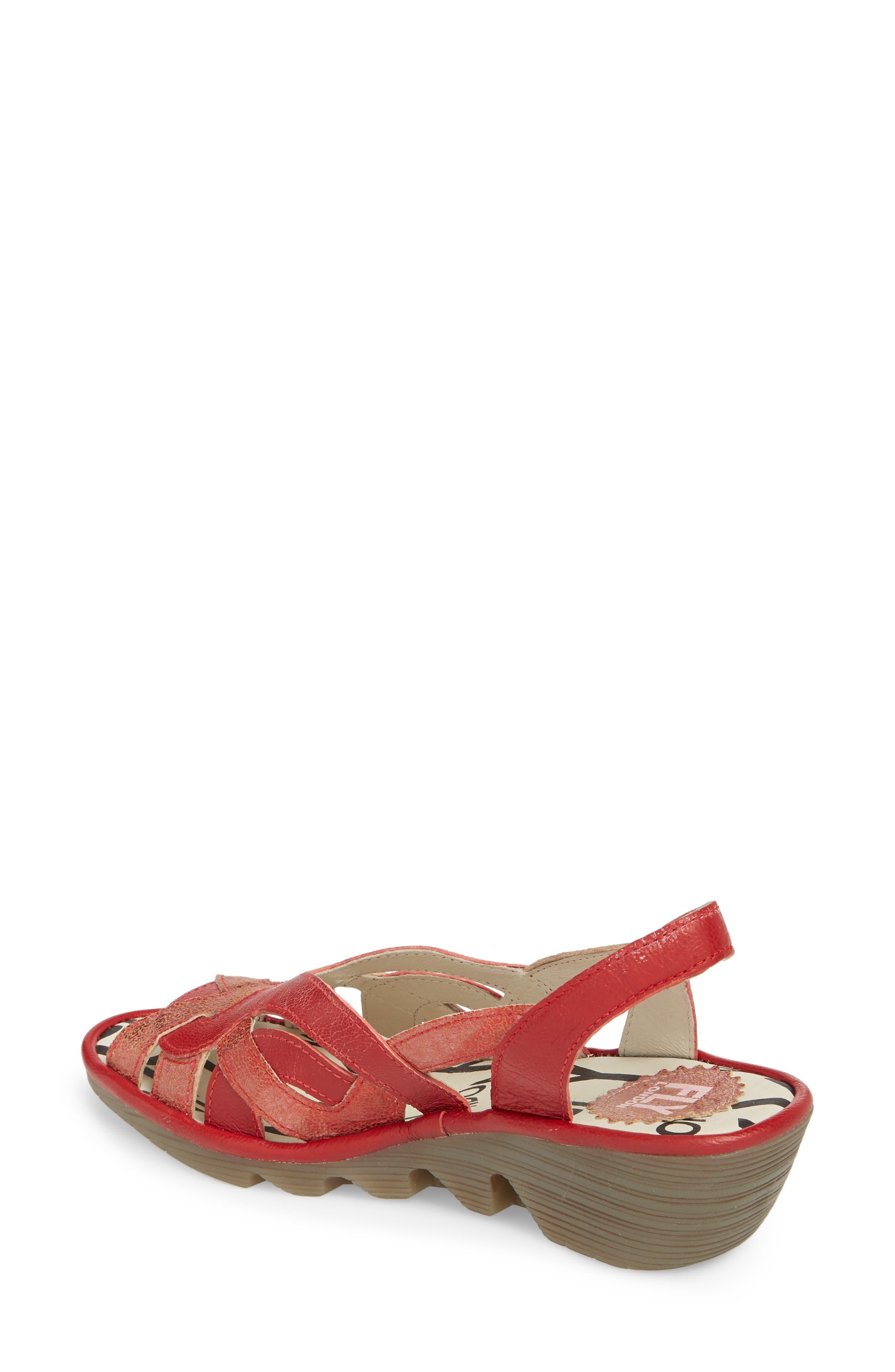 Pima Sandal,                             Alternate thumbnail 2, color,                             Red Mix Leather