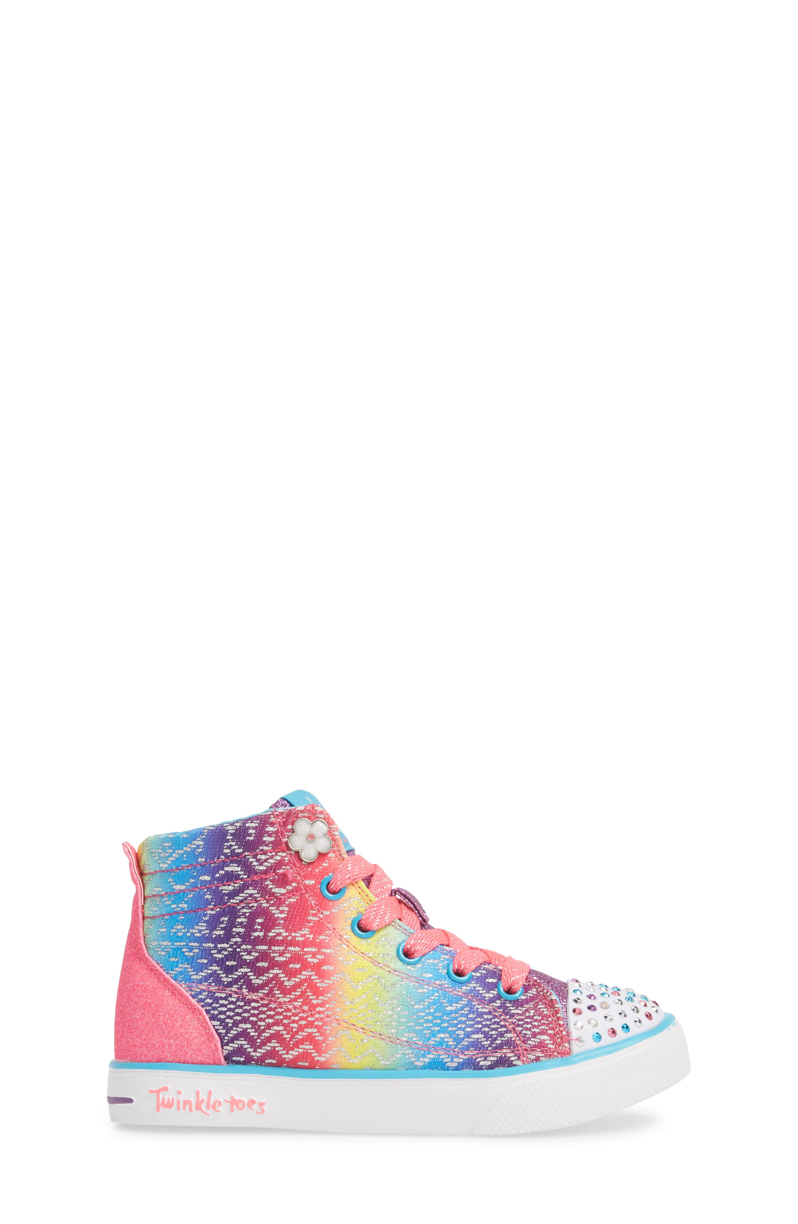 Alternate Image 3  - SKECHERS Twinkle Toes Breeze 2.0 Light-Up High Top Sneaker (Toddler, Little Kid & Big Kid)