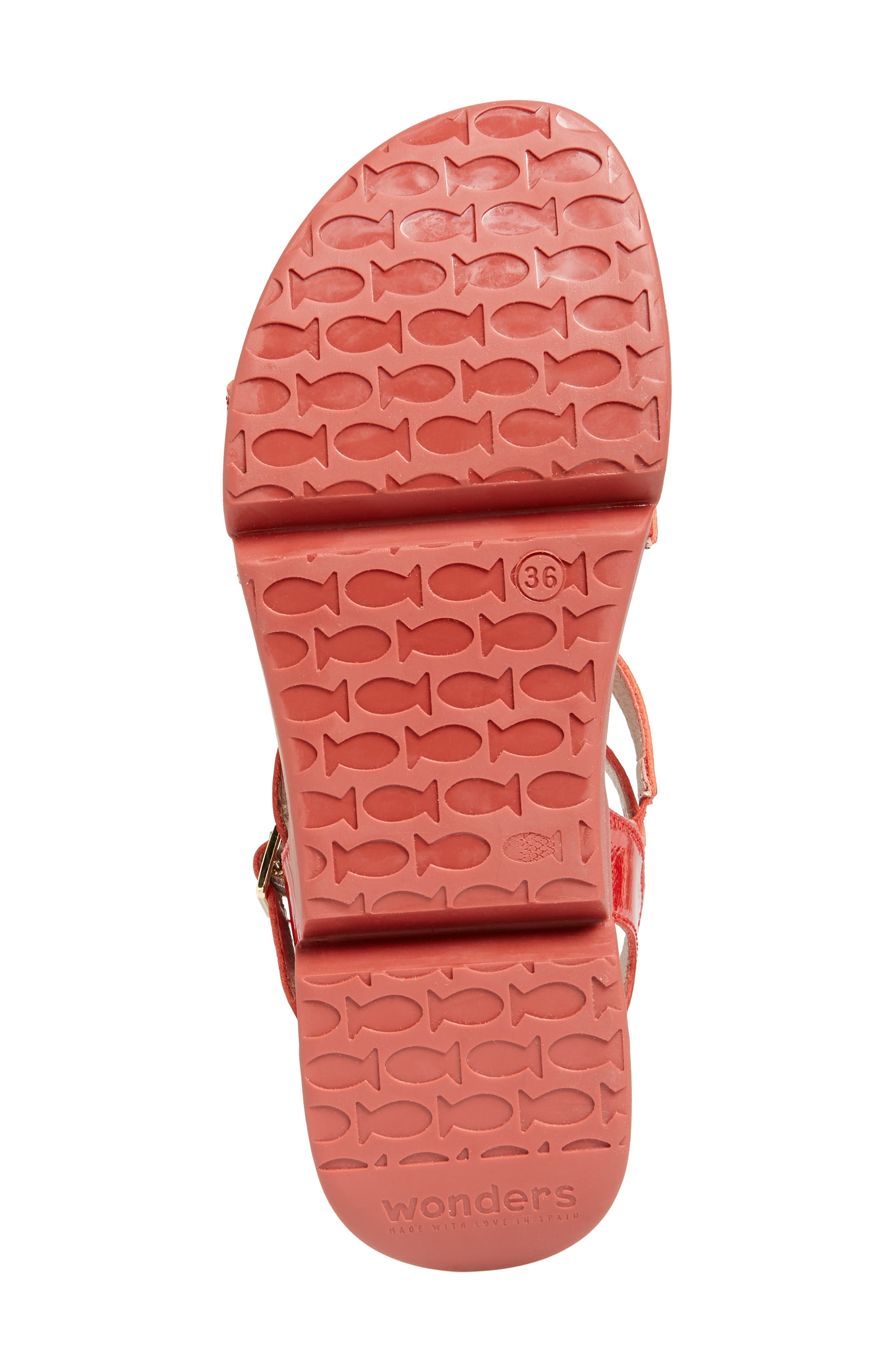 Wedge Sandal,                             Alternate thumbnail 6, color,                             Red Patent Leather
