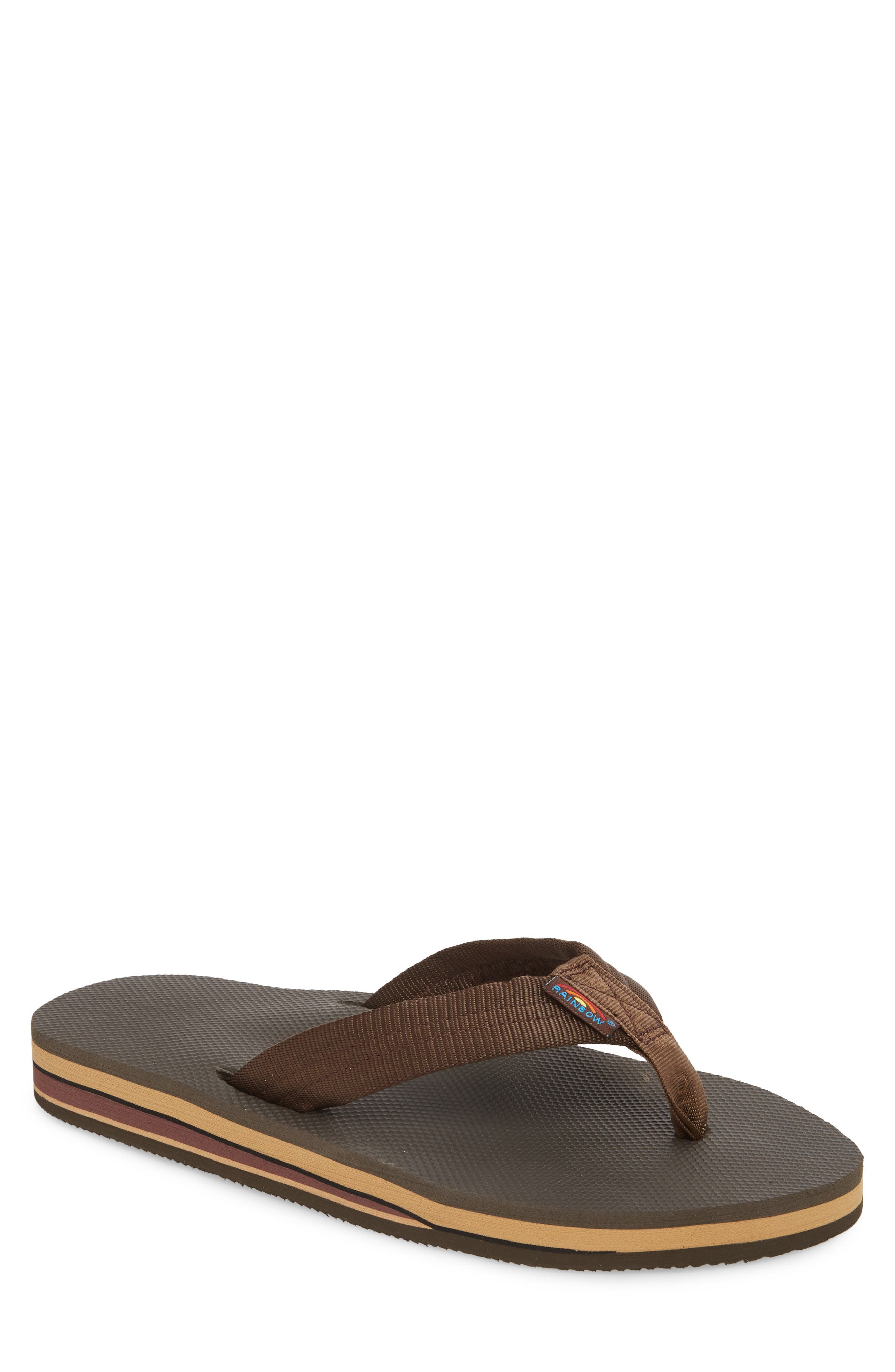 Double Layer Classic Flip Flop,                         Main,                         color, Brown