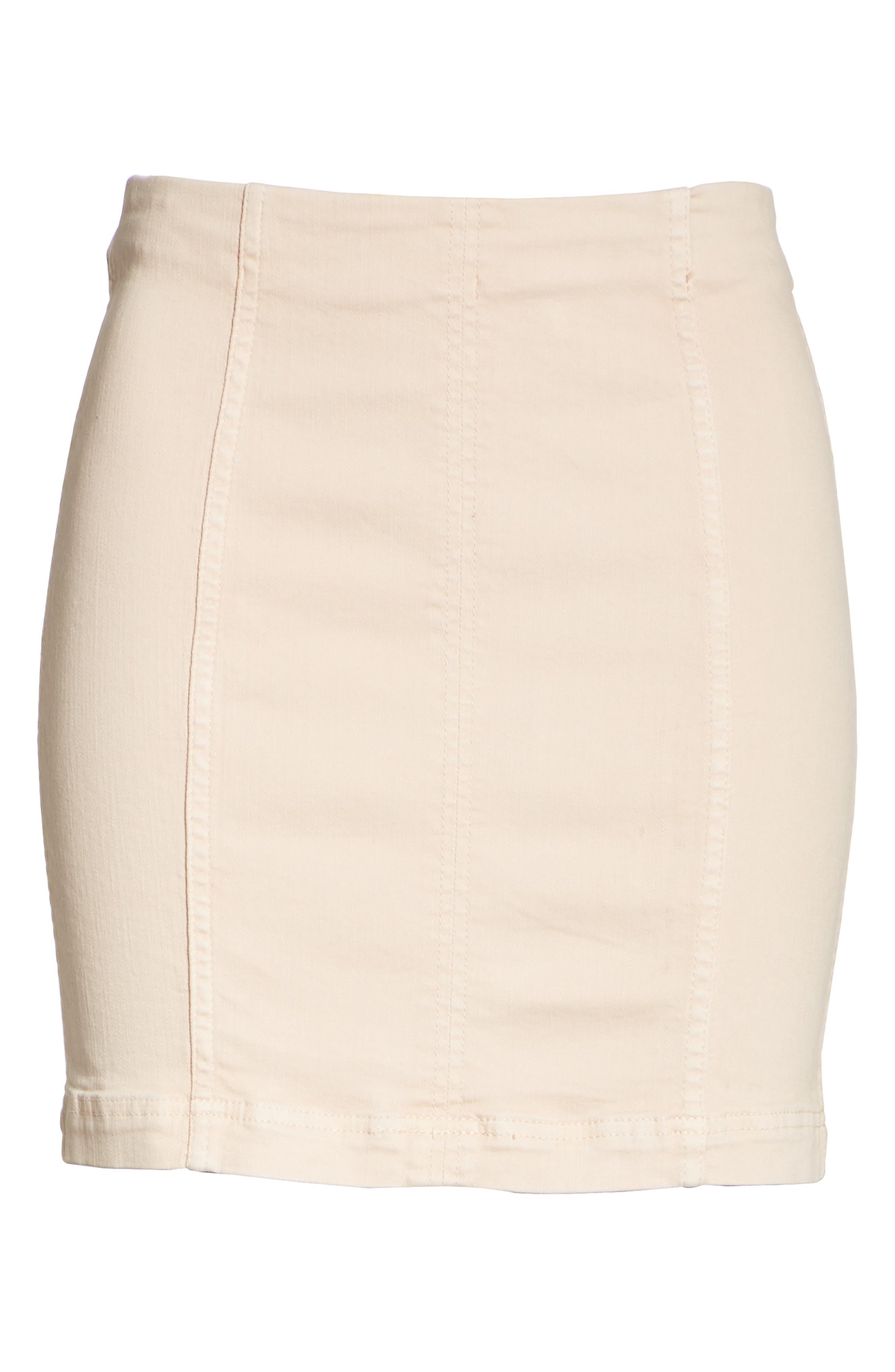 Modern Femme Miniskirt,                             Alternate thumbnail 6, color,                             Stone