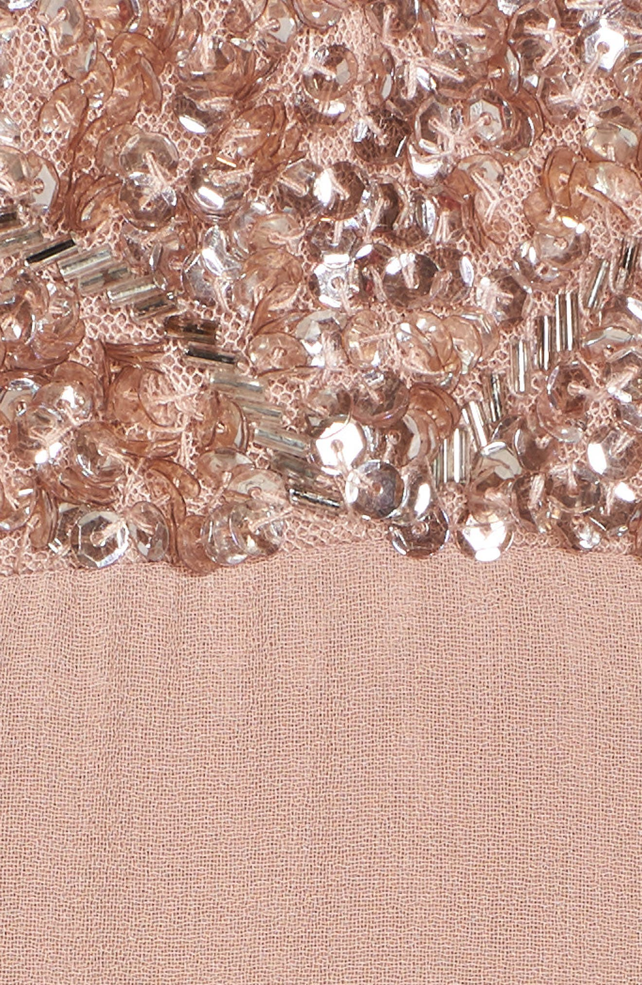 Embellished Chiffon Gown,                             Alternate thumbnail 5, color,                             Dusty Pink