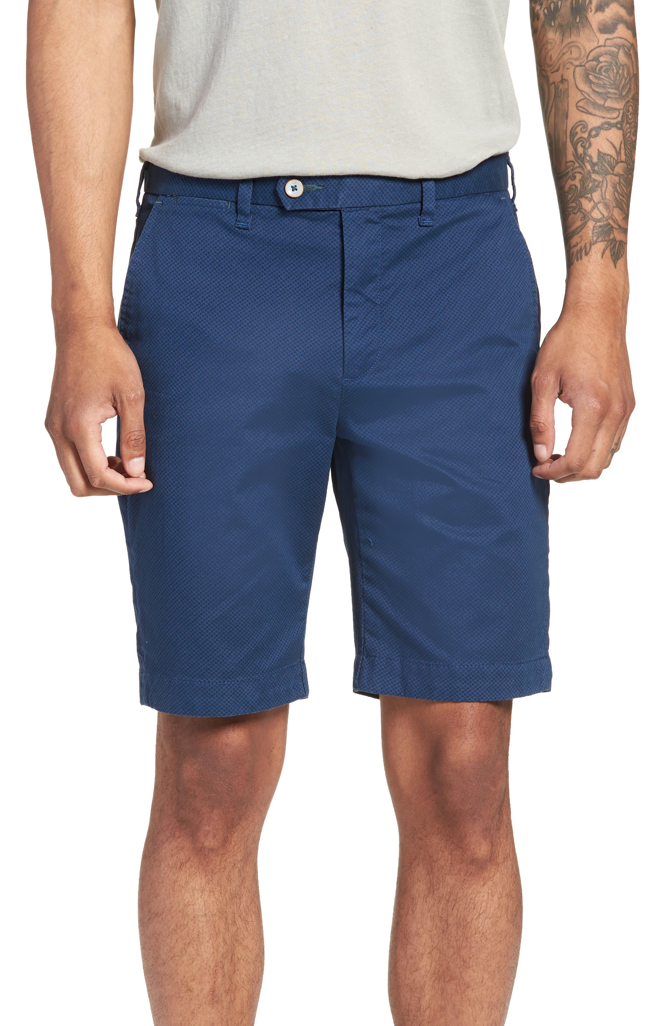 Print Spot Shorts,                         Main,                         color, Navy