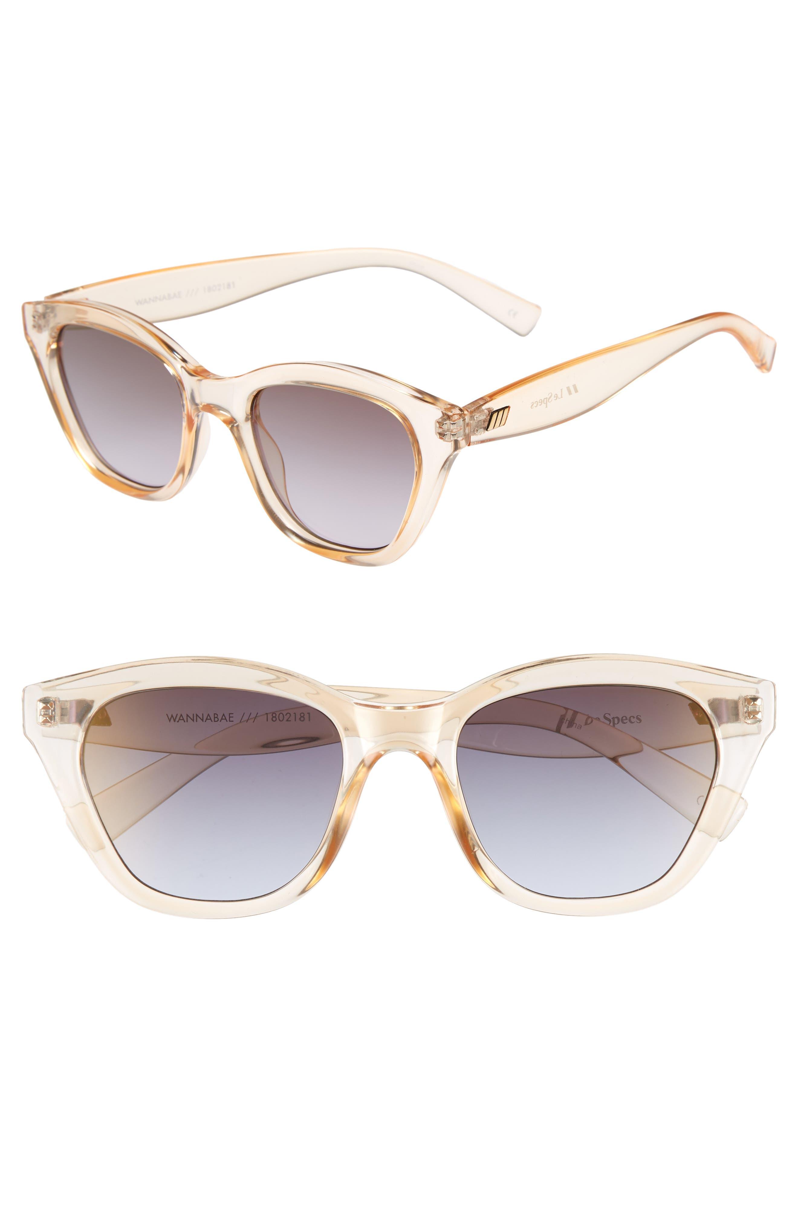 Wannabae 49mm Angular Sunglasses,                             Main thumbnail 1, color,                             Blonde
