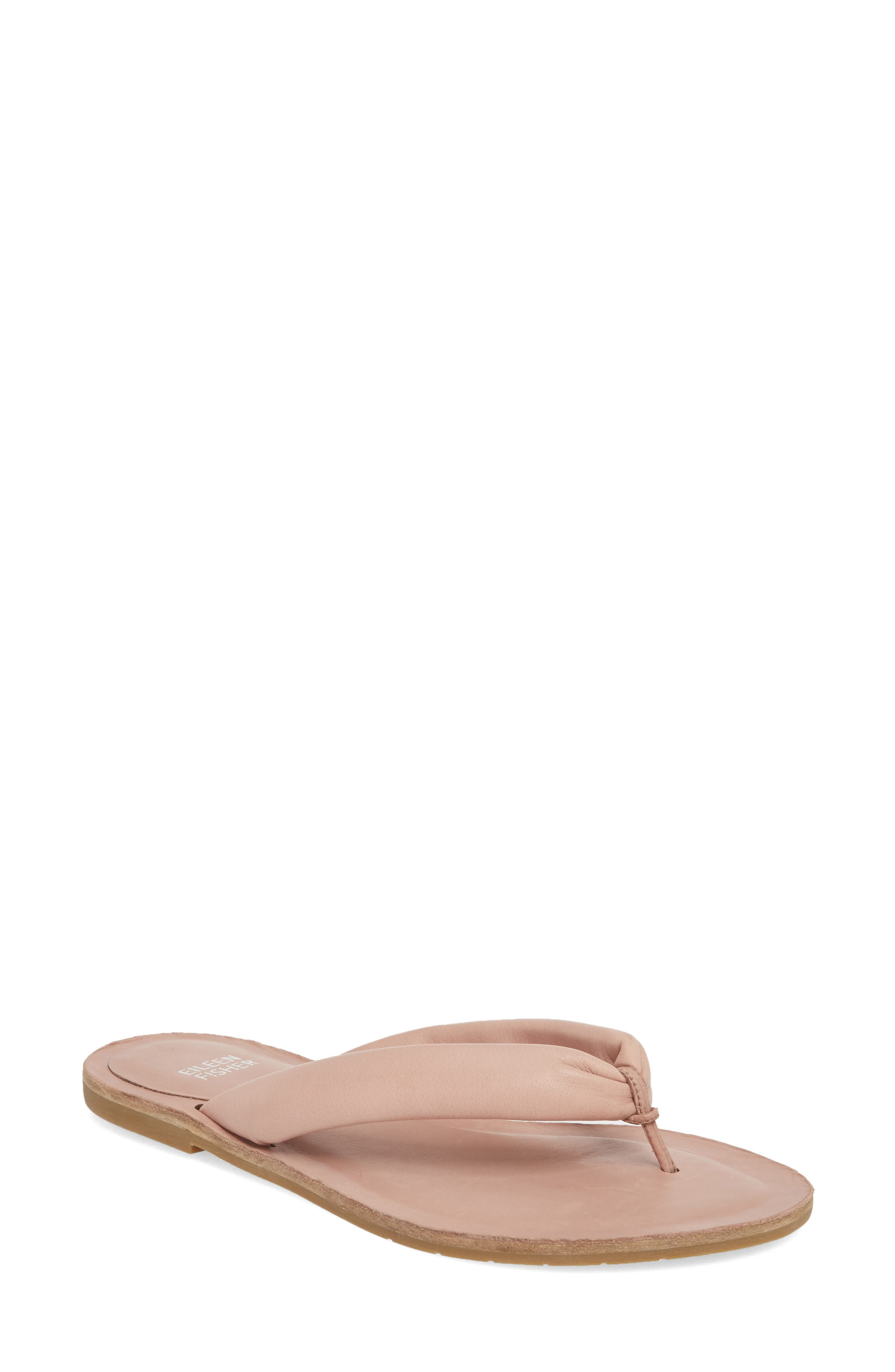 Flute Flip Flop,                         Main,                         color, Dusty Rose Leather