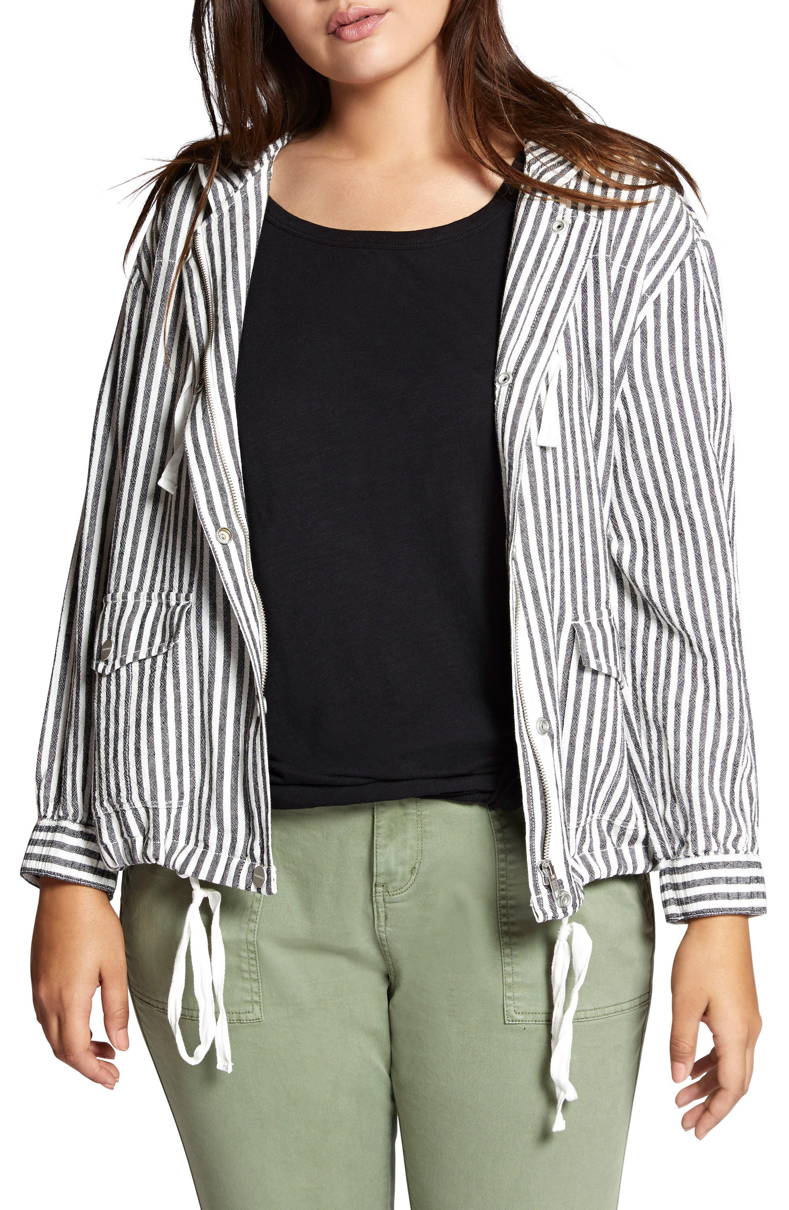 Nova Stripe Hooded Jacket,                             Main thumbnail 1, color,                             Tiki Stripe