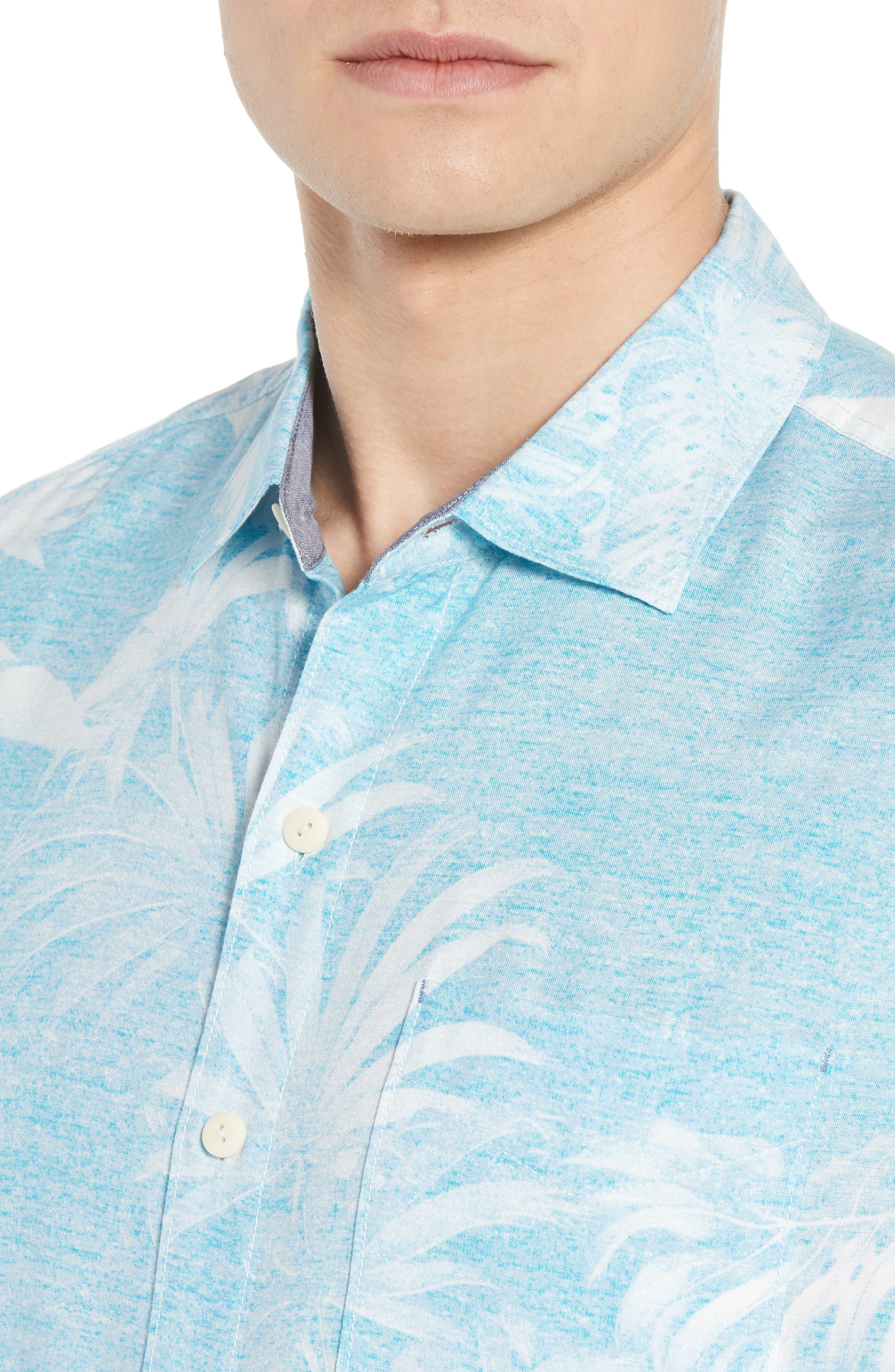 Grande Fronds Sport Shirt,                             Alternate thumbnail 2, color,                             Blue Radiance