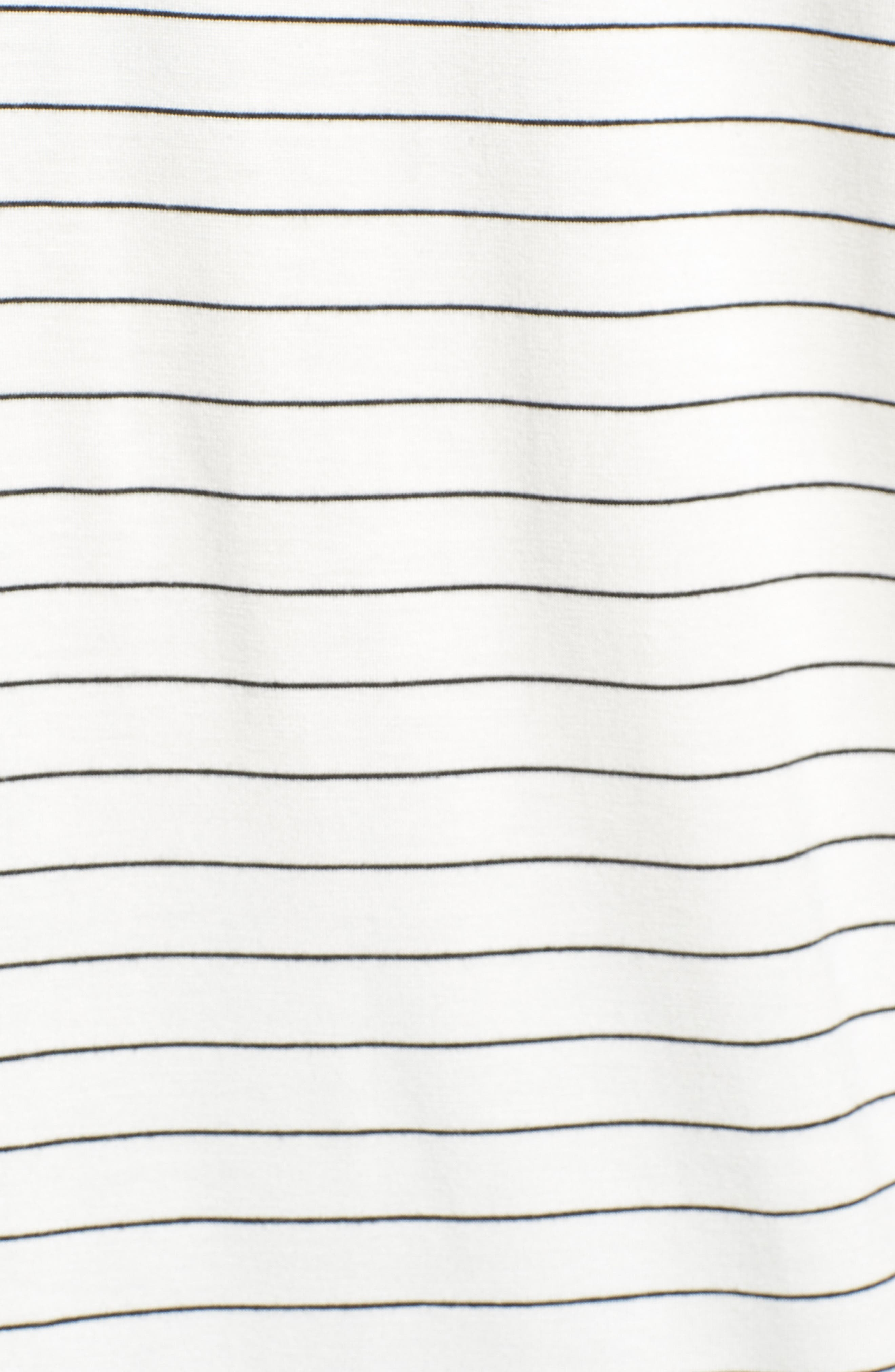 Off-Duty Sleeveless Stretch Knit Top,                             Alternate thumbnail 5, color,                             White- Black Cloud Stripe