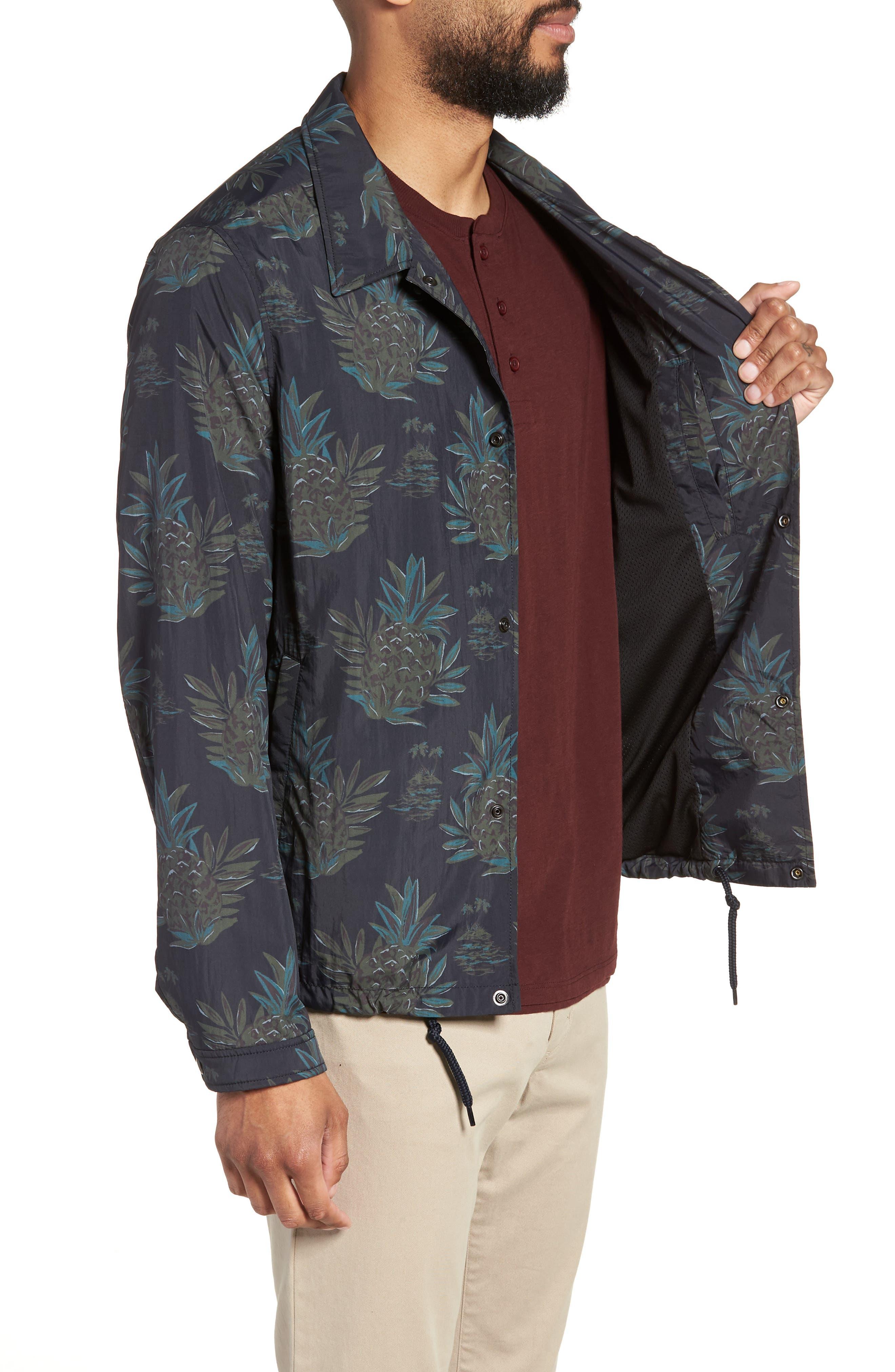 Tropical Regular Fit Coach's Jacket,                             Alternate thumbnail 3, color,                             New Coastal