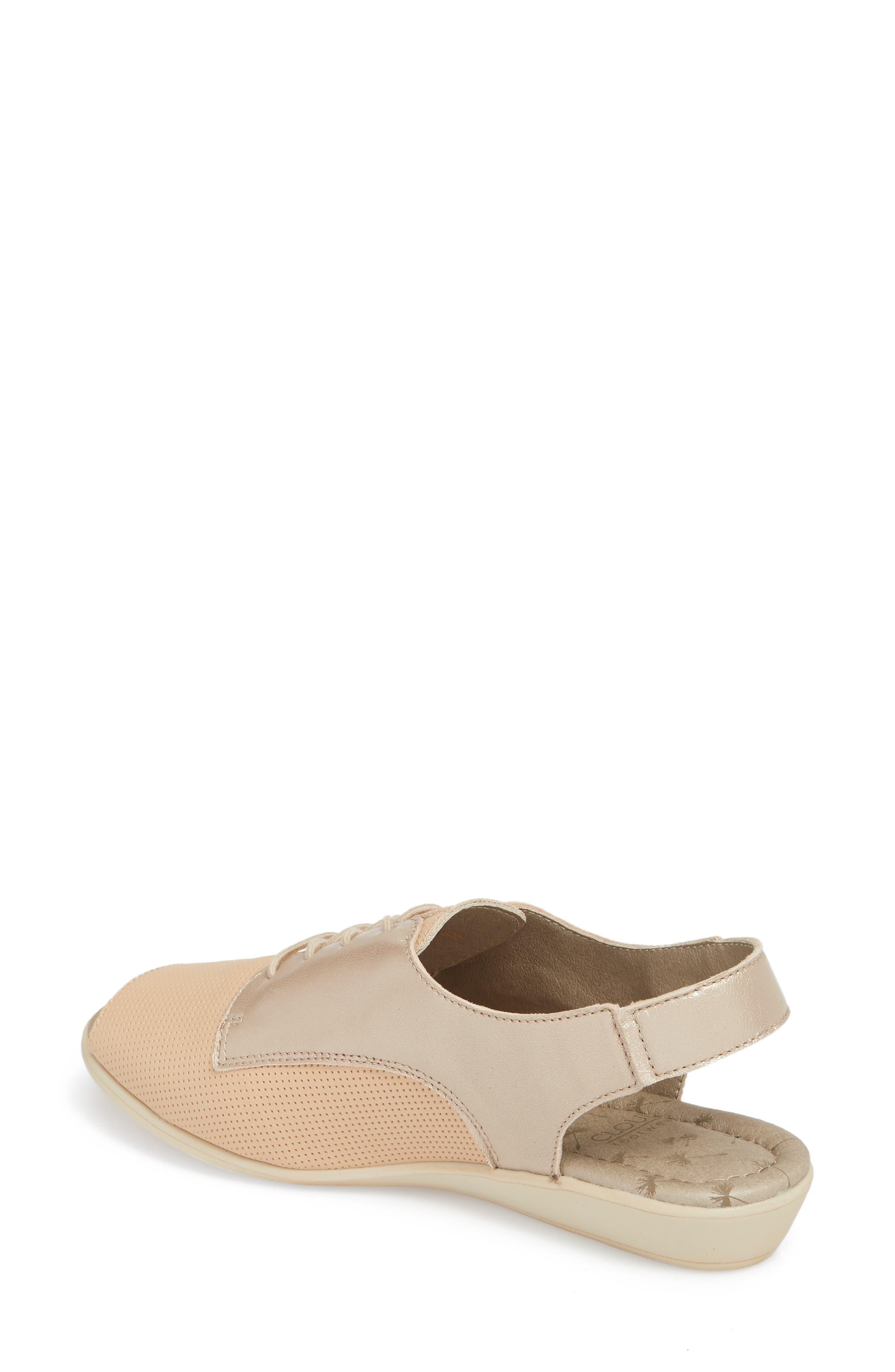Cleone Slingback Sandal,                             Alternate thumbnail 2, color,                             Puima Sabbia Leather