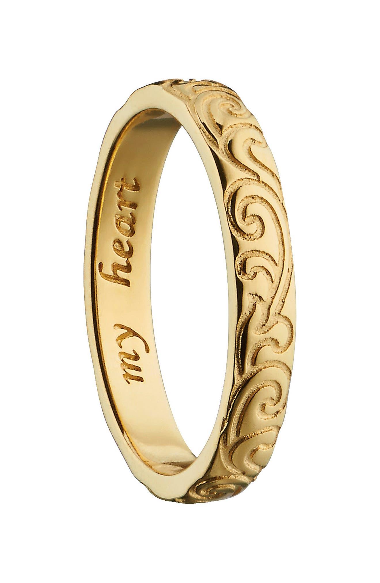 Monica Rich Kosann My Heart 18K Gold Poesy Ring Charm
