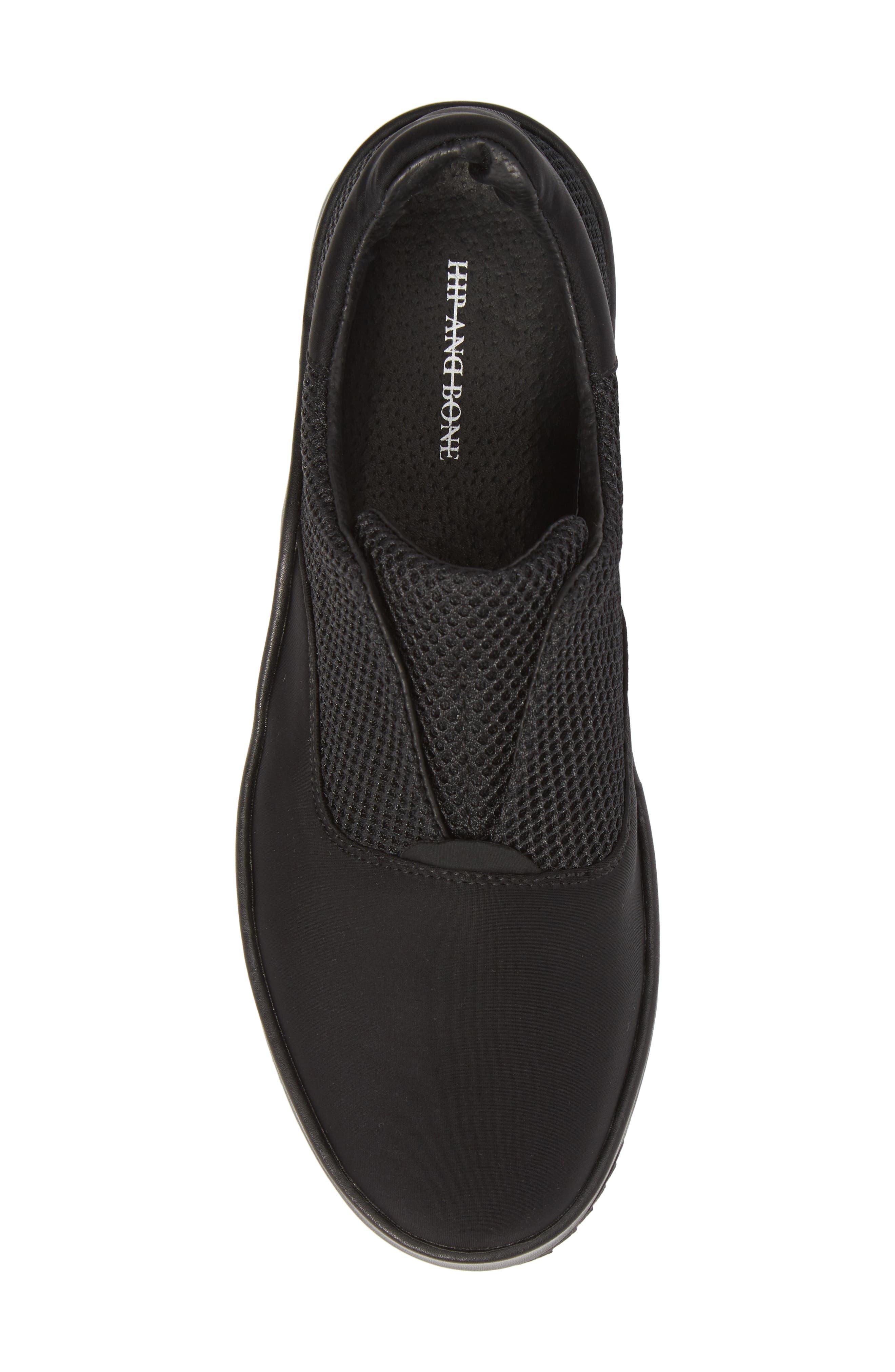 Core Neoprene Skater Laceless Sneaker,                             Alternate thumbnail 5, color,                             Black Neoprene Fabric