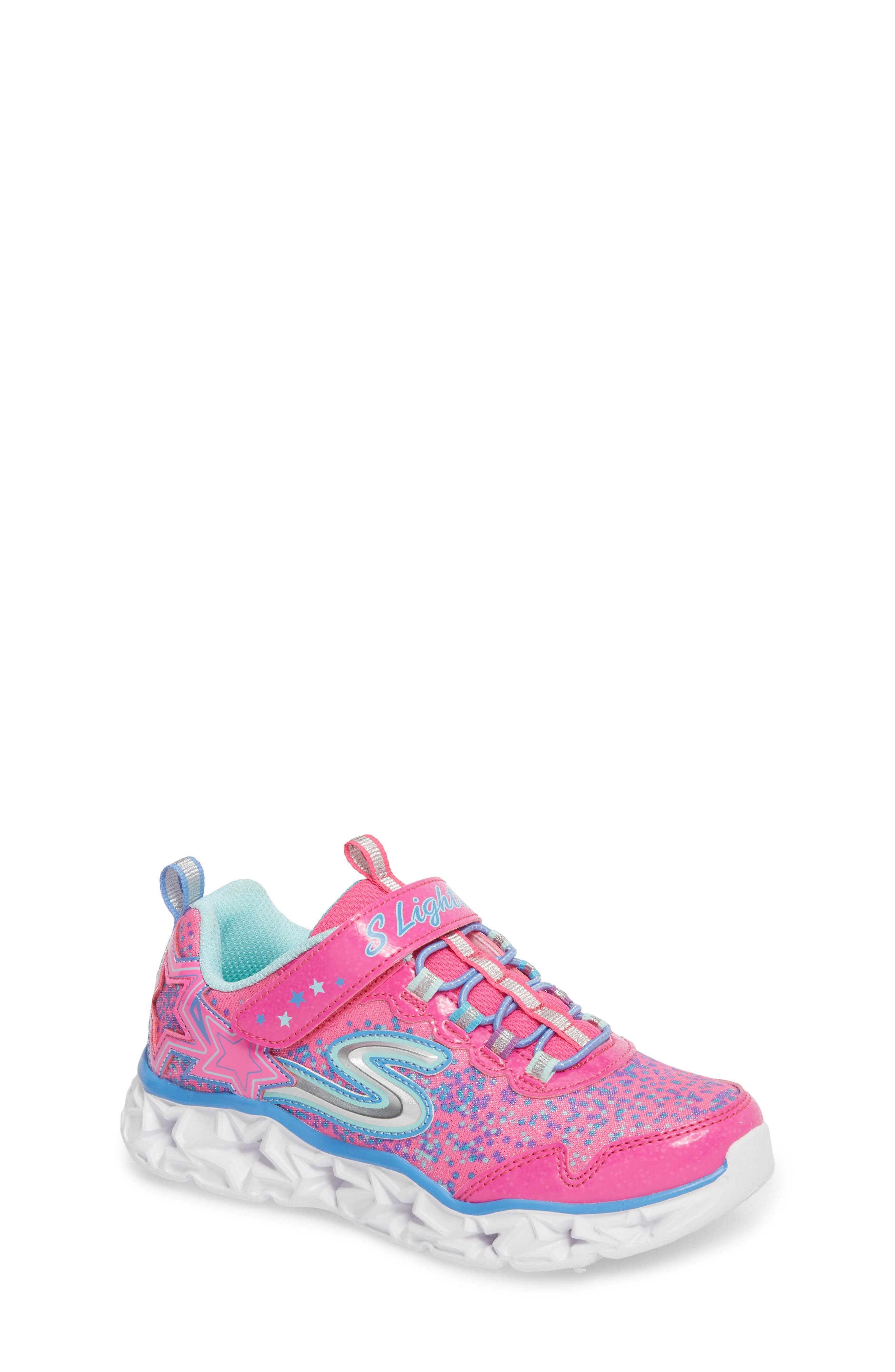 Galaxy Lights Sneakers,                             Main thumbnail 1, color,                             Neon Pink/ Multi