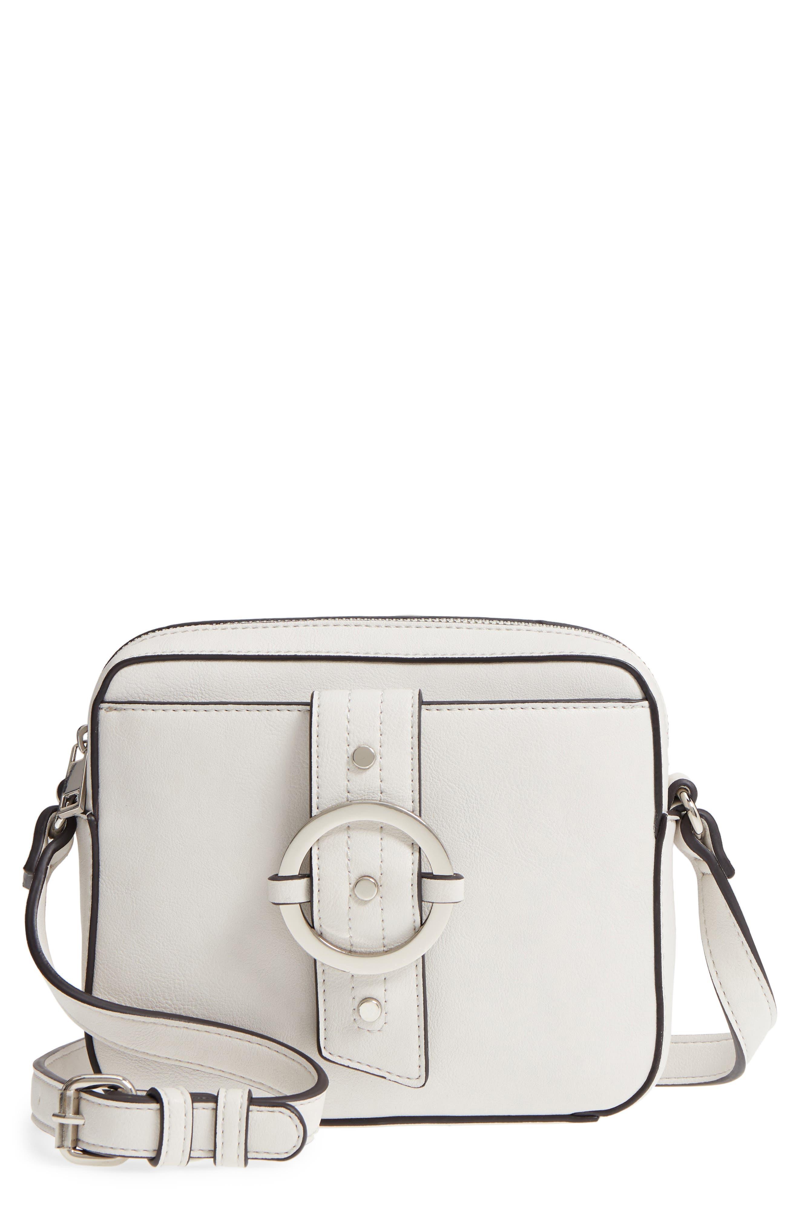 Faux Leather Camera Crossbody Bag,                         Main,                         color, Linen