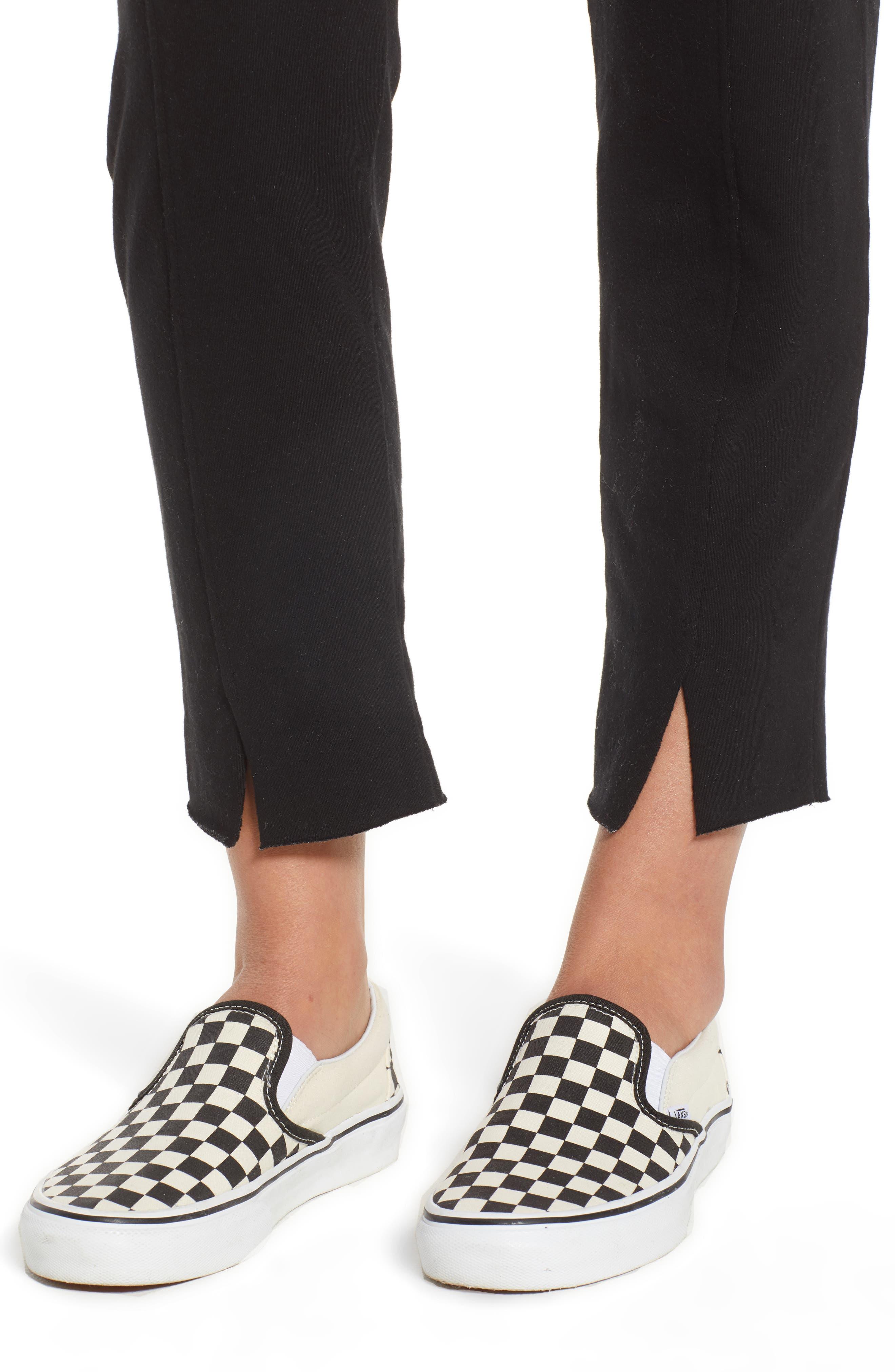 Lowsen Split Hem Sweatpants,                             Alternate thumbnail 4, color,                             Black