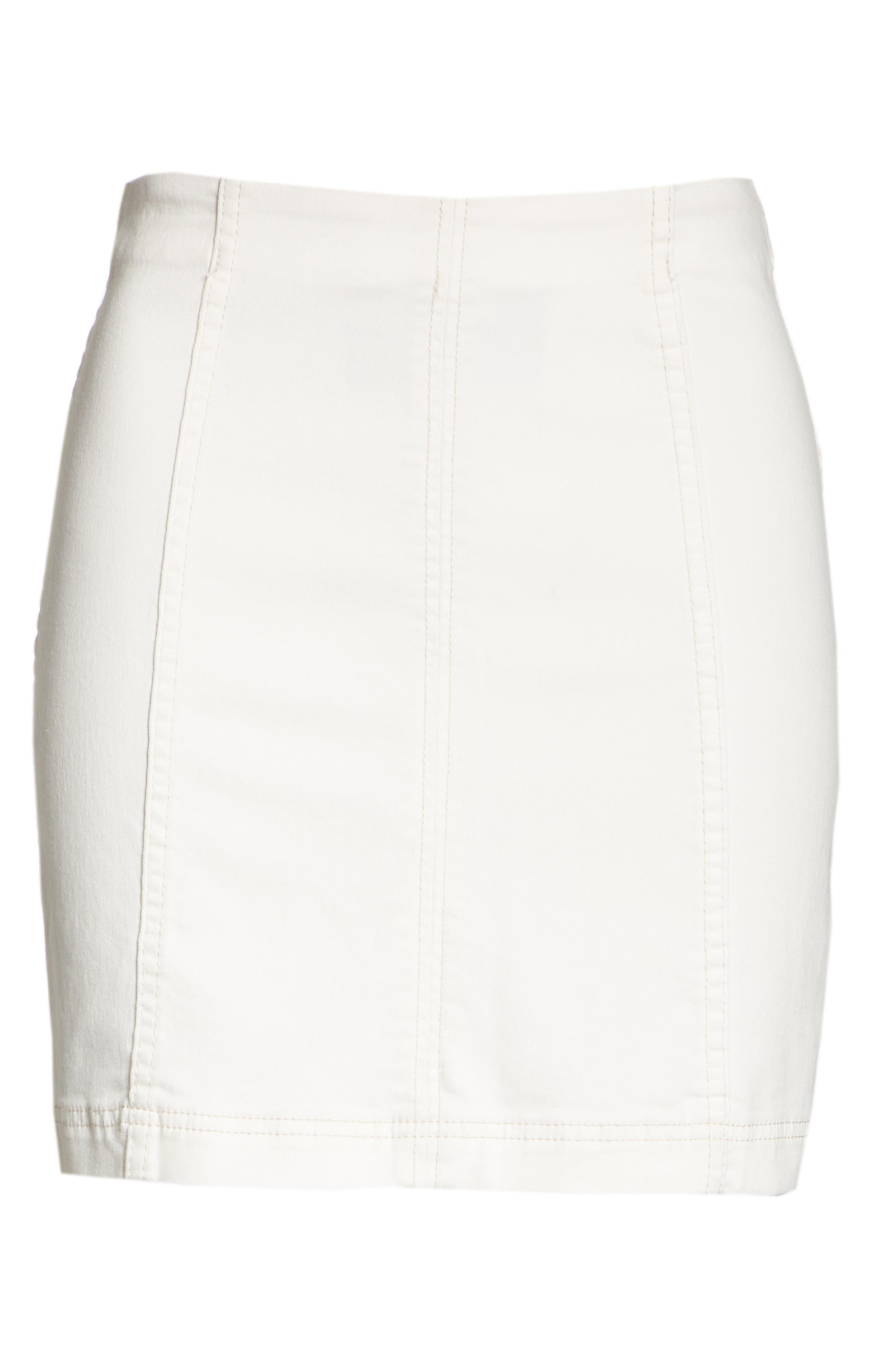 Modern Femme Denim Skirt,                             Alternate thumbnail 6, color,                             White