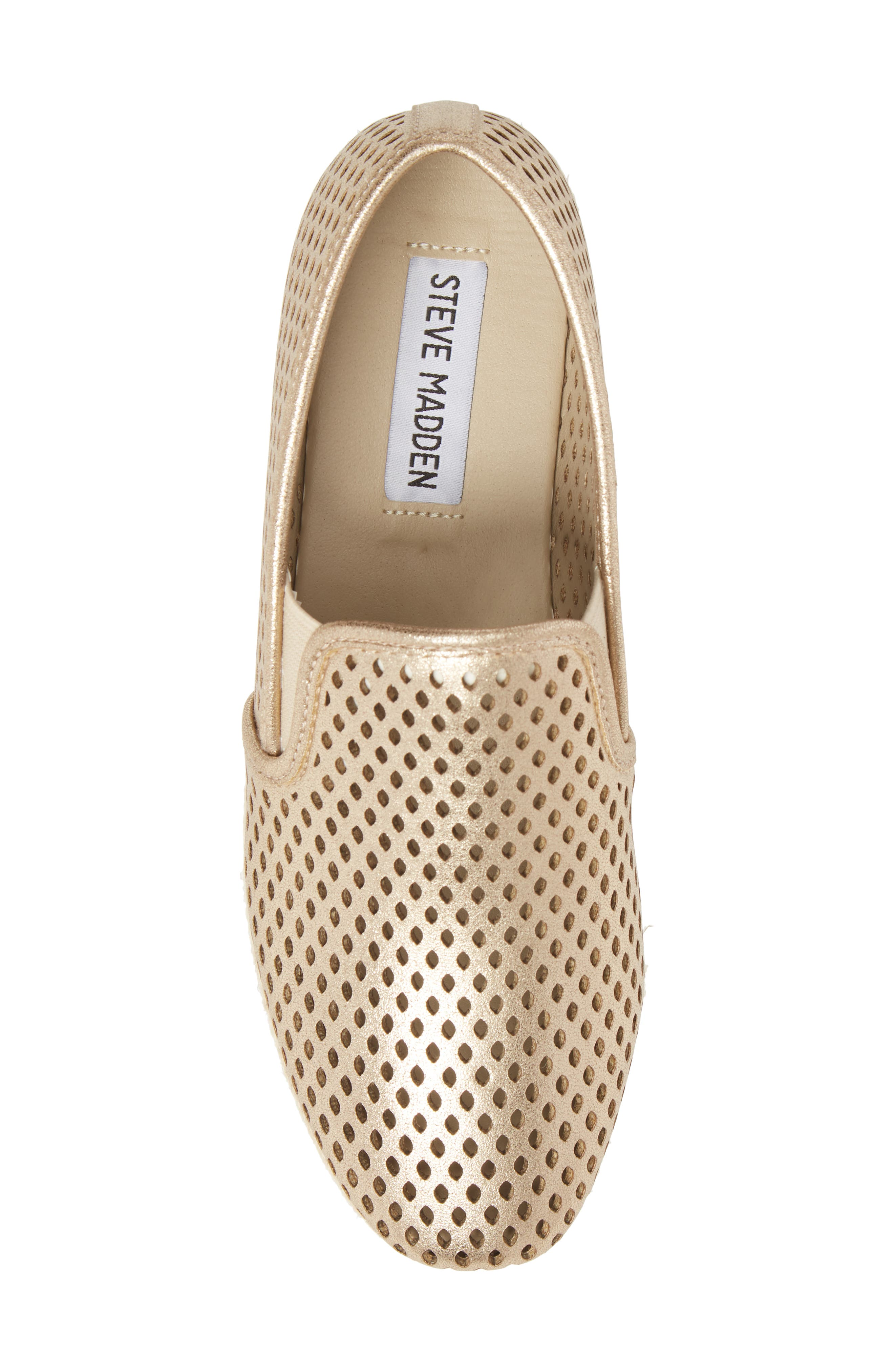 Kara Perforated Platform Loafer,                             Alternate thumbnail 5, color,                             Platinum