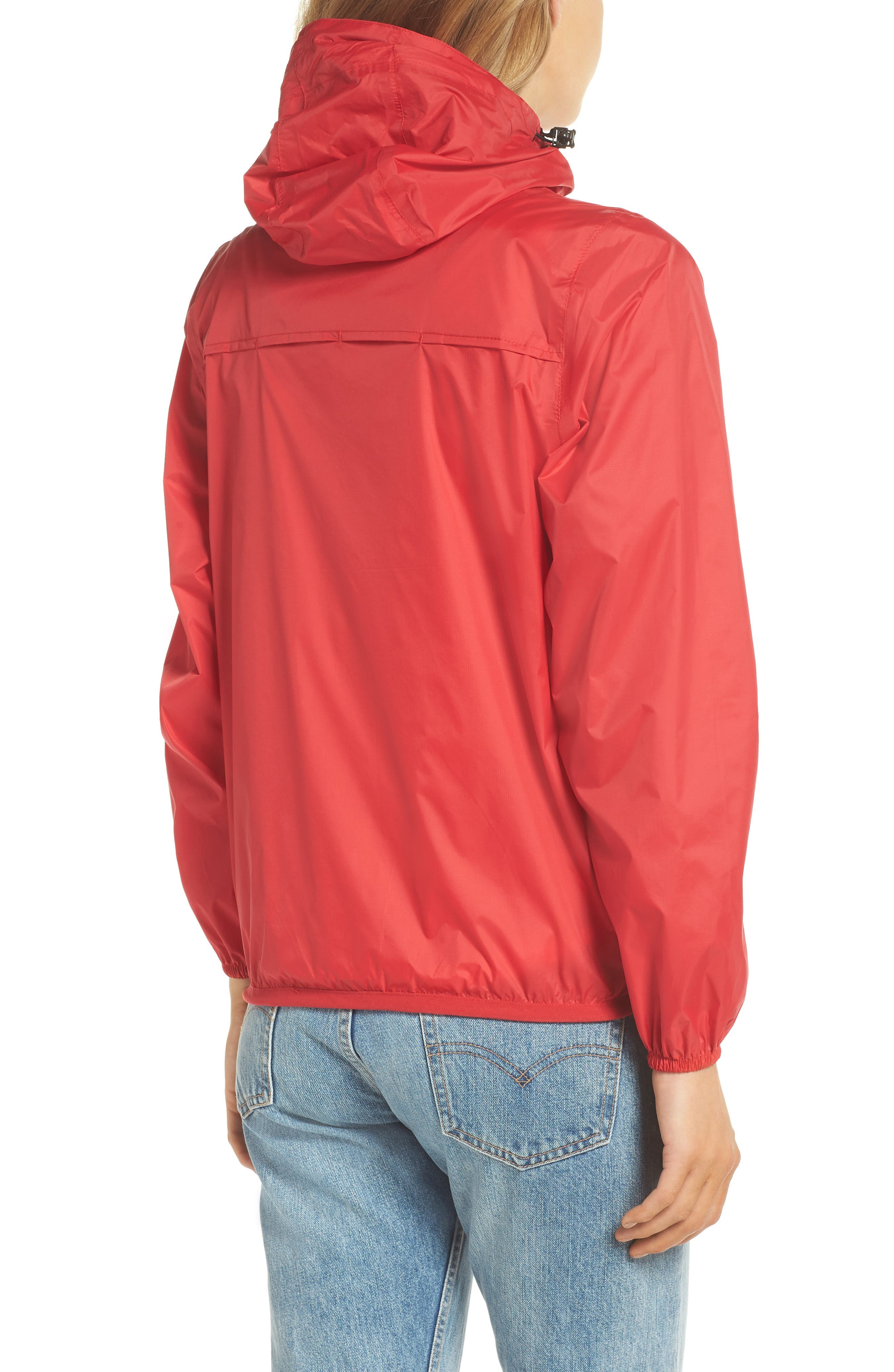 Packable Rain Jacket,                             Alternate thumbnail 2, color,                             Red