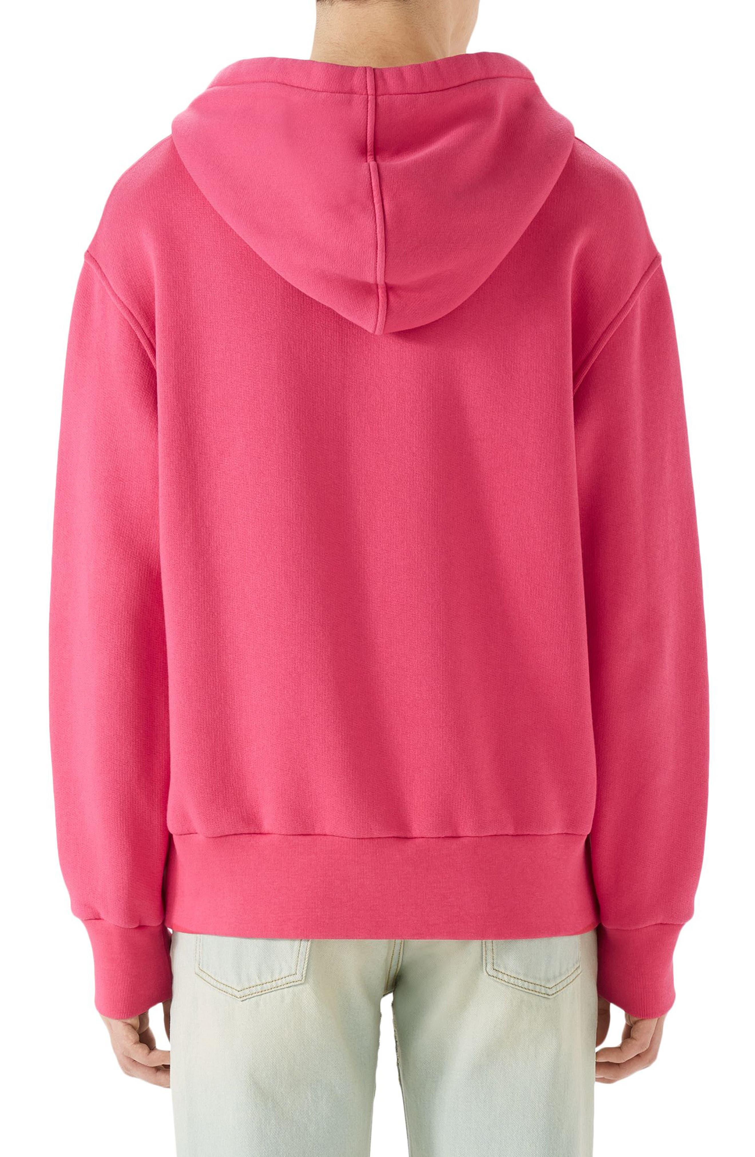 Logo Patch Pullover Hoodie,                             Alternate thumbnail 2, color,                             Pink