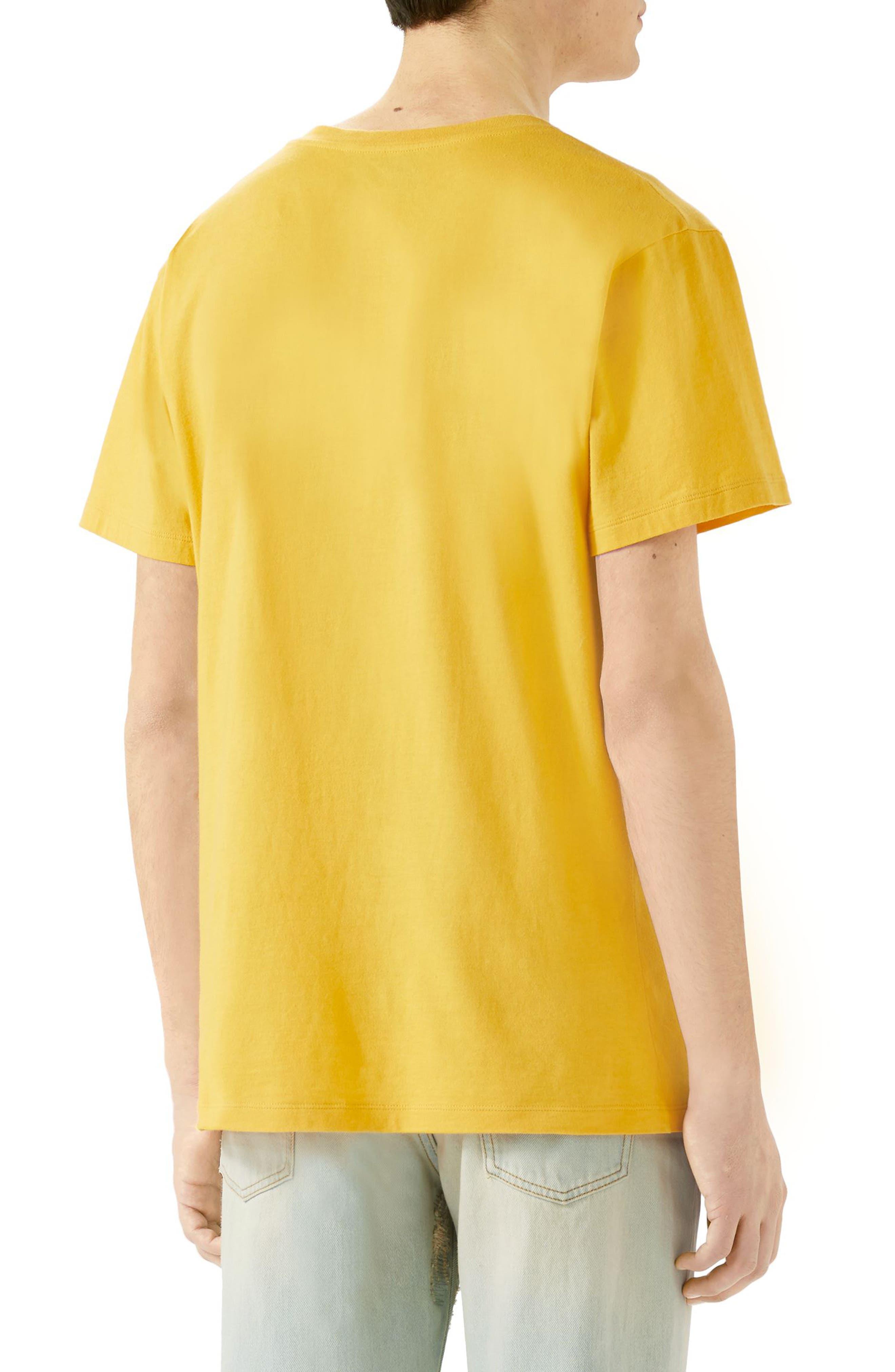 Animal Print T-Shirt,                             Alternate thumbnail 2, color,                             Yellow