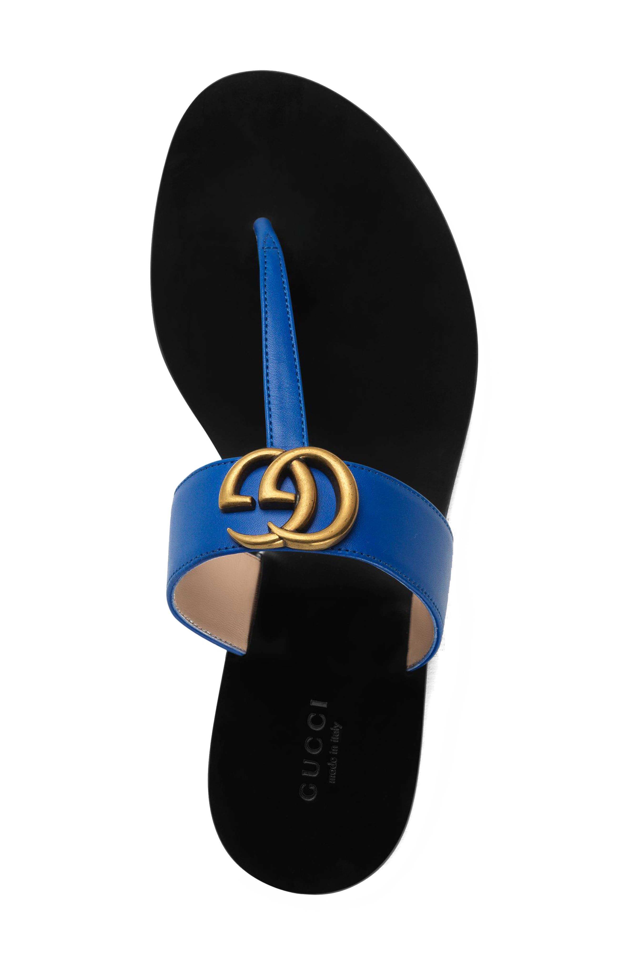 T-Strap Sandal,                             Alternate thumbnail 3, color,                             Electric Blue