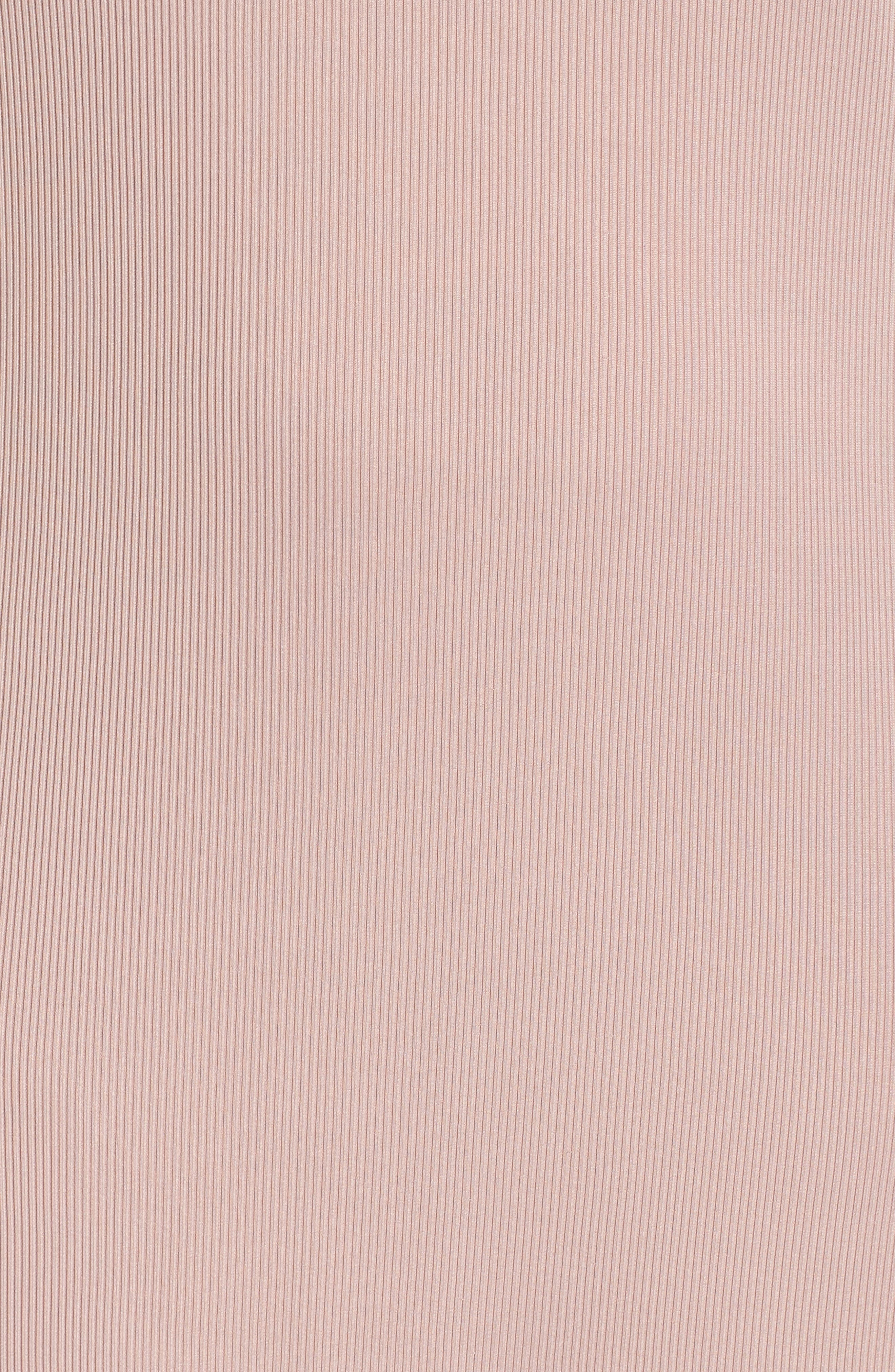 Rib Knit Swing Dress,                             Alternate thumbnail 6, color,                             Light Purple