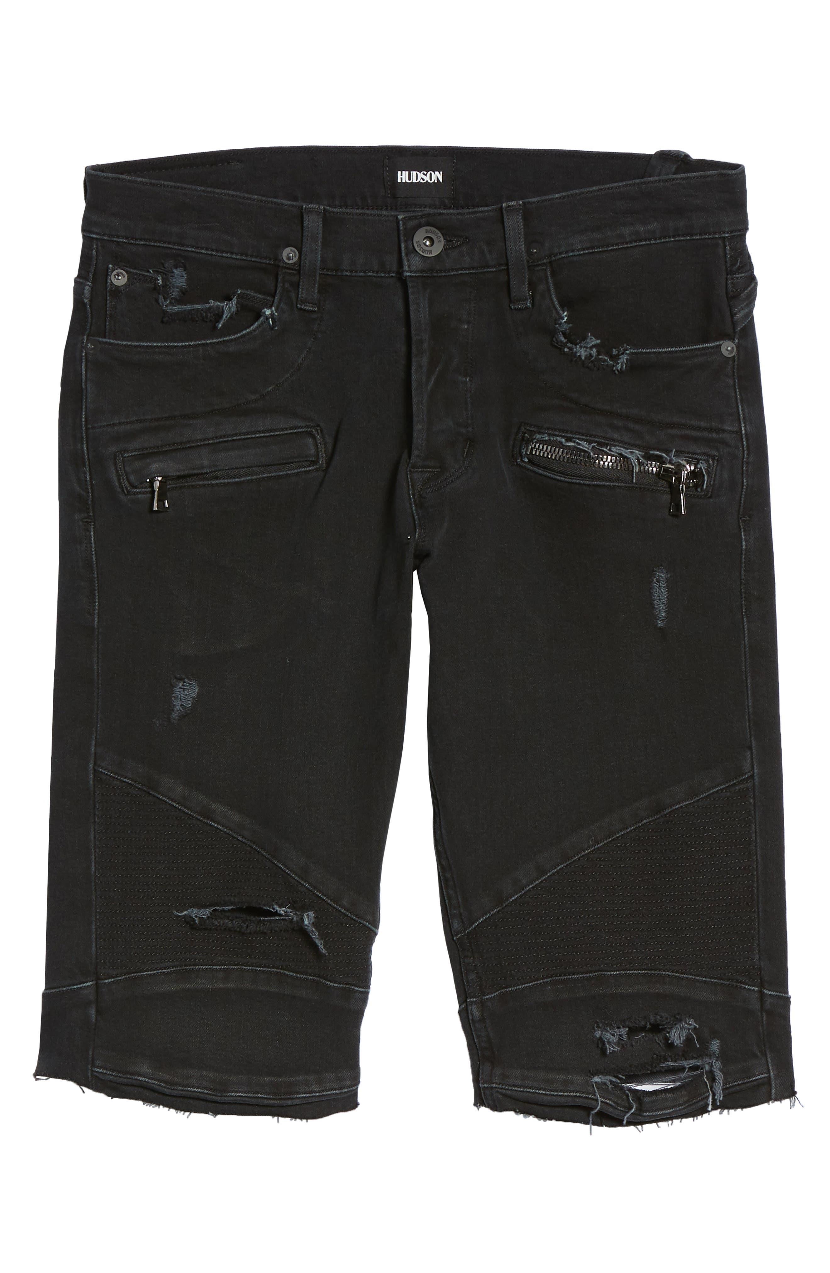 Blinder Biker Cutoff Shorts,                             Alternate thumbnail 6, color,                             Fade Away