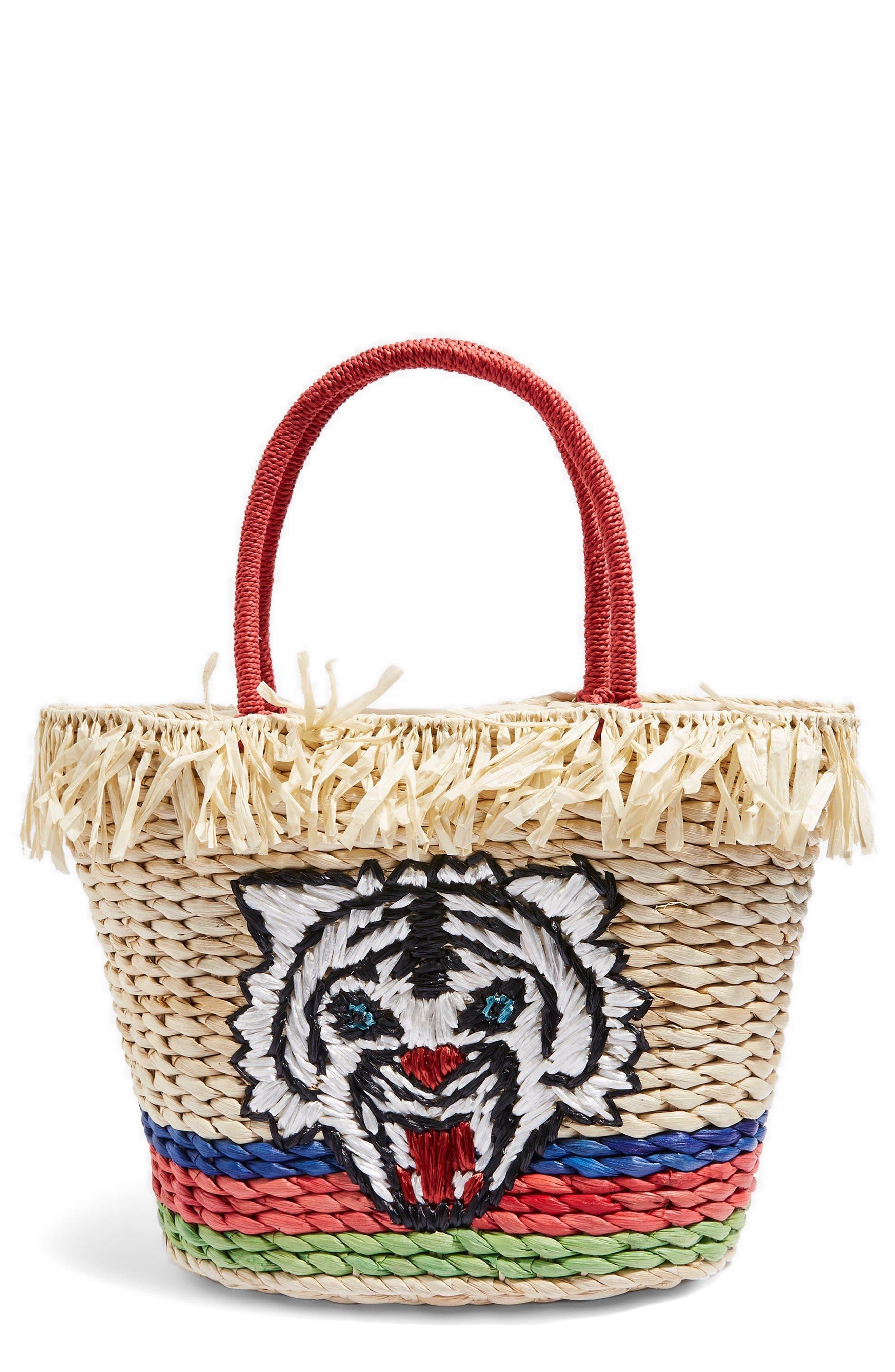 Briger Tiger Tote Bag,                         Main,                         color, Nude Multi