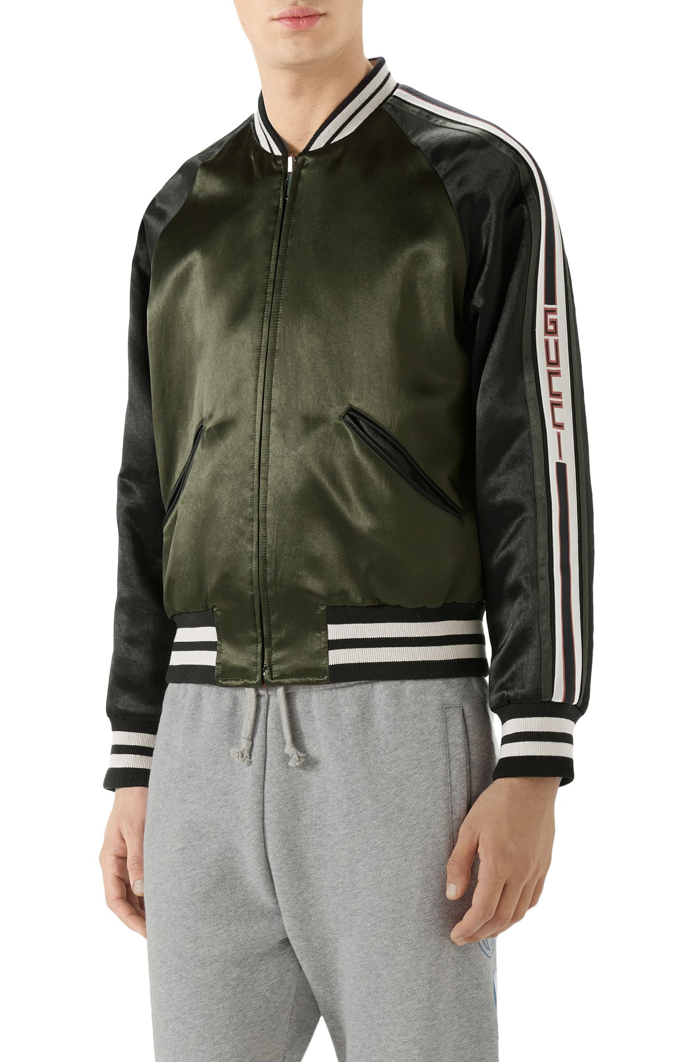 Alternate Image 1 Selected - Gucci Souvenir Bomber Jacket