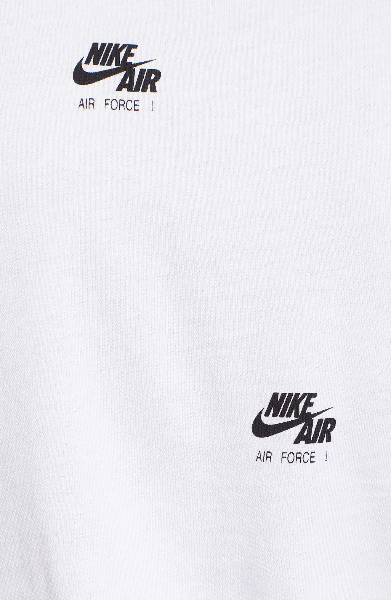 Sportswear AF-1 Print Tank,                             Alternate thumbnail 5, color,                             White/ Black